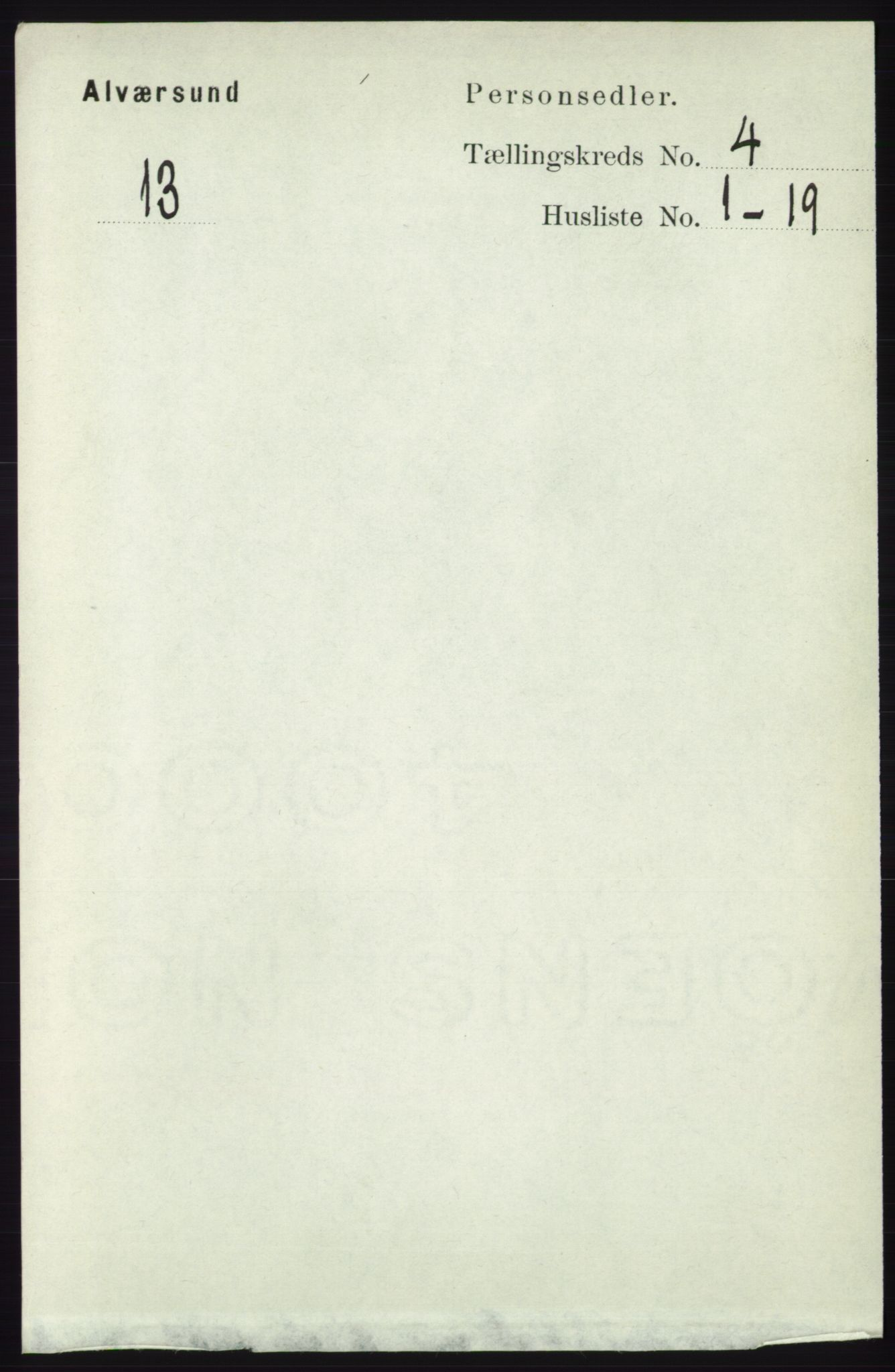 RA, Folketelling 1891 for 1257 Alversund herred, 1891, s. 1630