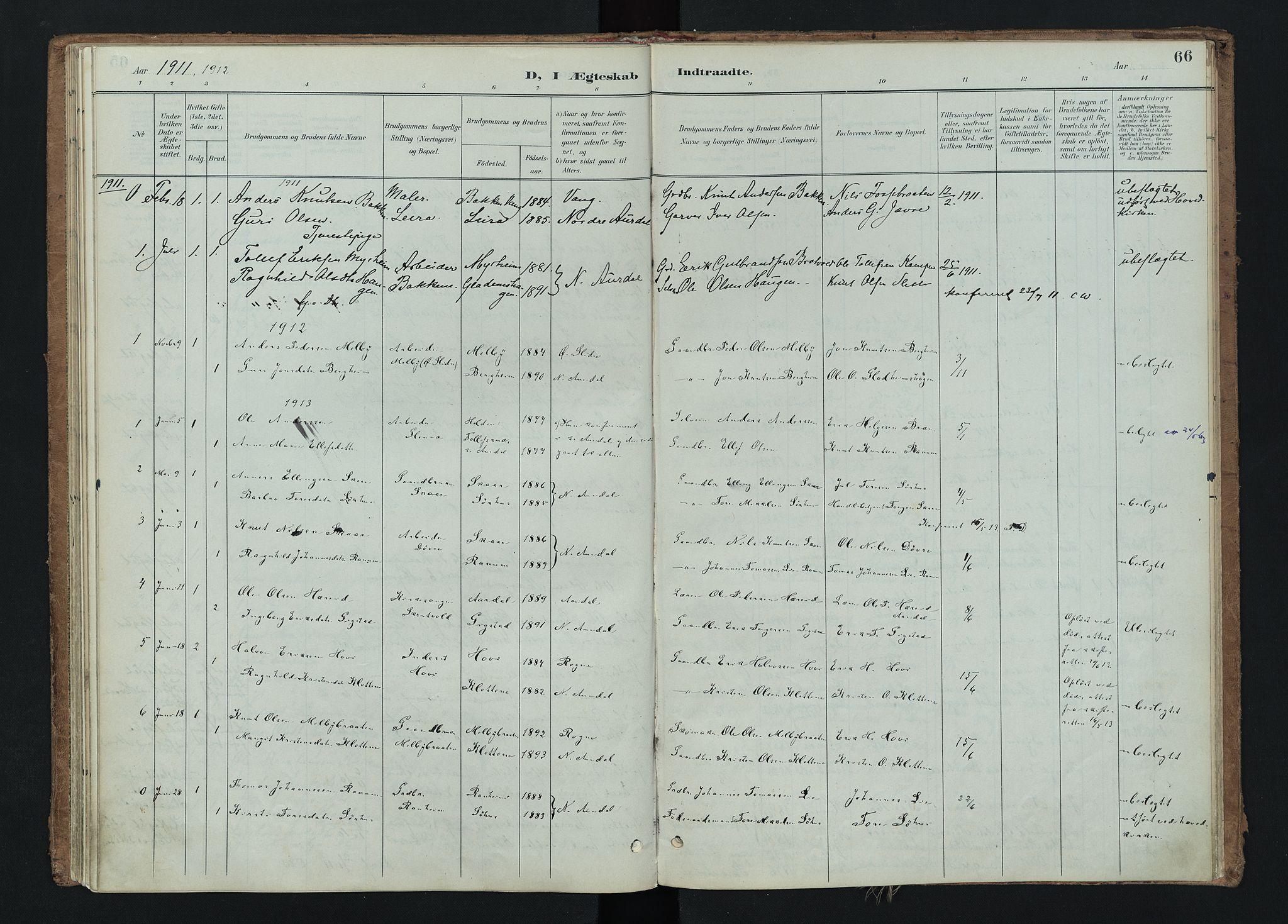 SAH, Nord-Aurdal prestekontor, Ministerialbok nr. 15, 1896-1914, s. 66