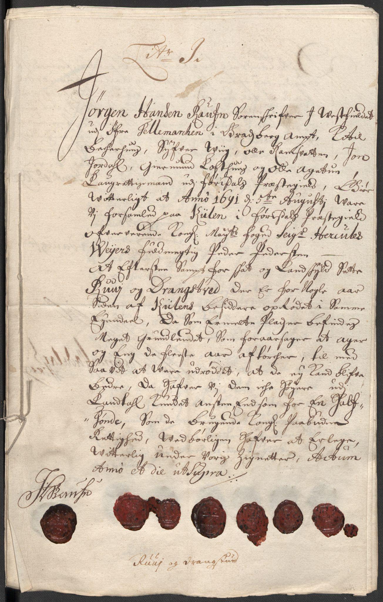 RA, Rentekammeret inntil 1814, Reviderte regnskaper, Fogderegnskap, R35/L2089: Fogderegnskap Øvre og Nedre Telemark, 1690-1692, s. 163