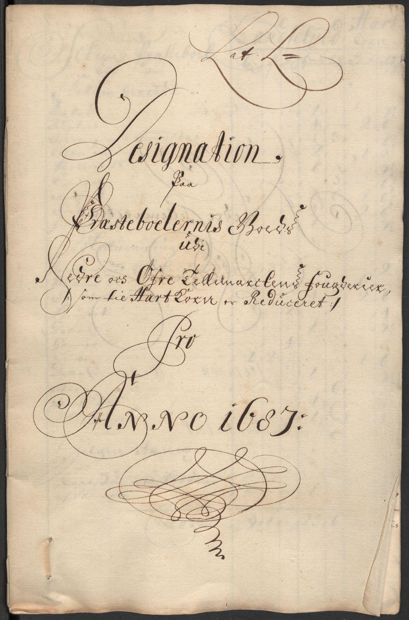 RA, Rentekammeret inntil 1814, Reviderte regnskaper, Fogderegnskap, R35/L2086: Fogderegnskap Øvre og Nedre Telemark, 1687-1689, s. 177