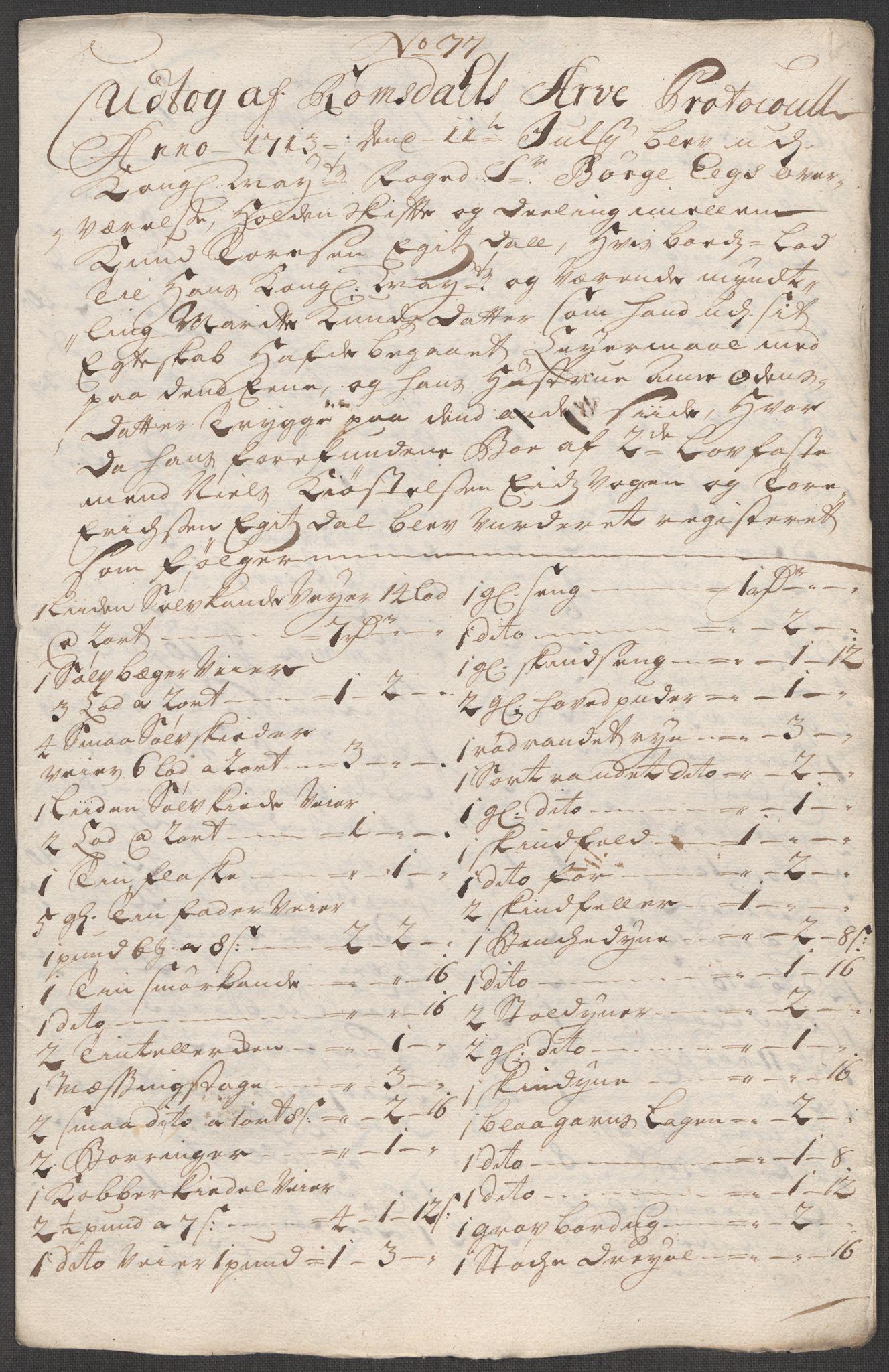 RA, Rentekammeret inntil 1814, Reviderte regnskaper, Fogderegnskap, R55/L3662: Fogderegnskap Romsdal, 1713-1714, s. 191