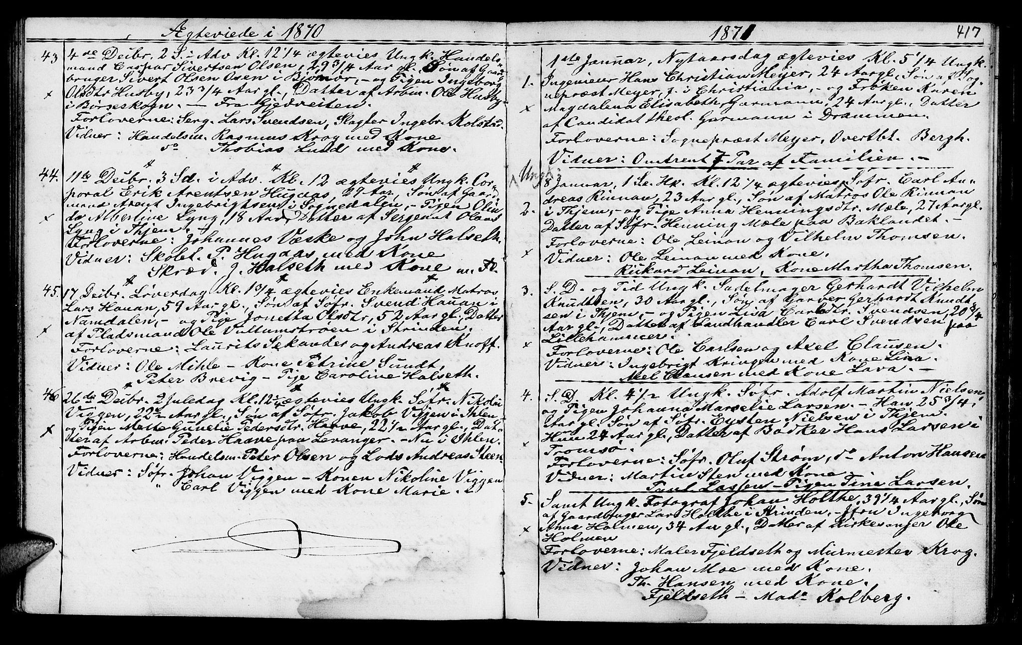 SAT, Ministerialprotokoller, klokkerbøker og fødselsregistre - Sør-Trøndelag, 602/L0140: Klokkerbok nr. 602C08, 1864-1872, s. 416-417