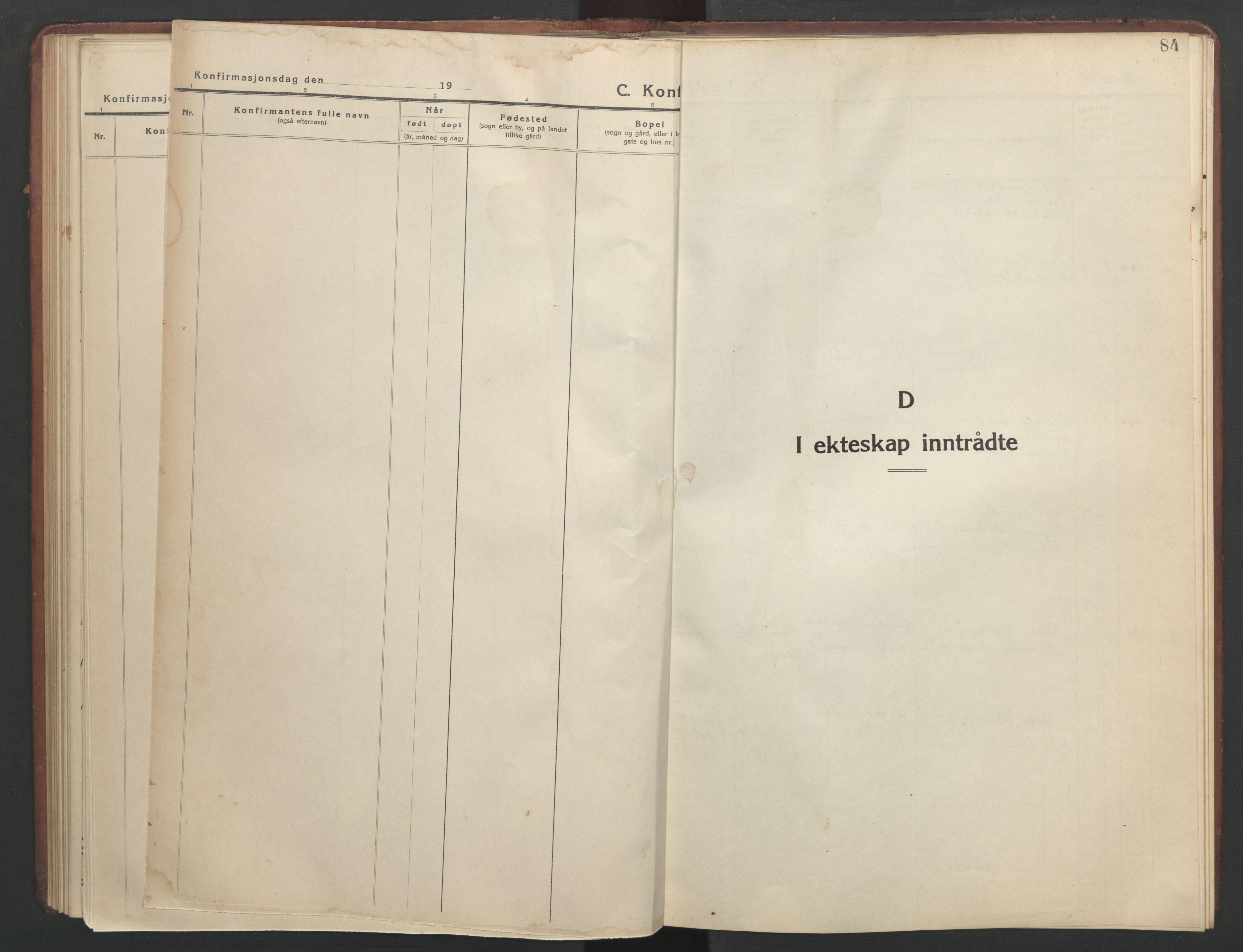 SAT, Ministerialprotokoller, klokkerbøker og fødselsregistre - Sør-Trøndelag, 634/L0544: Klokkerbok nr. 634C06, 1927-1948, s. 84