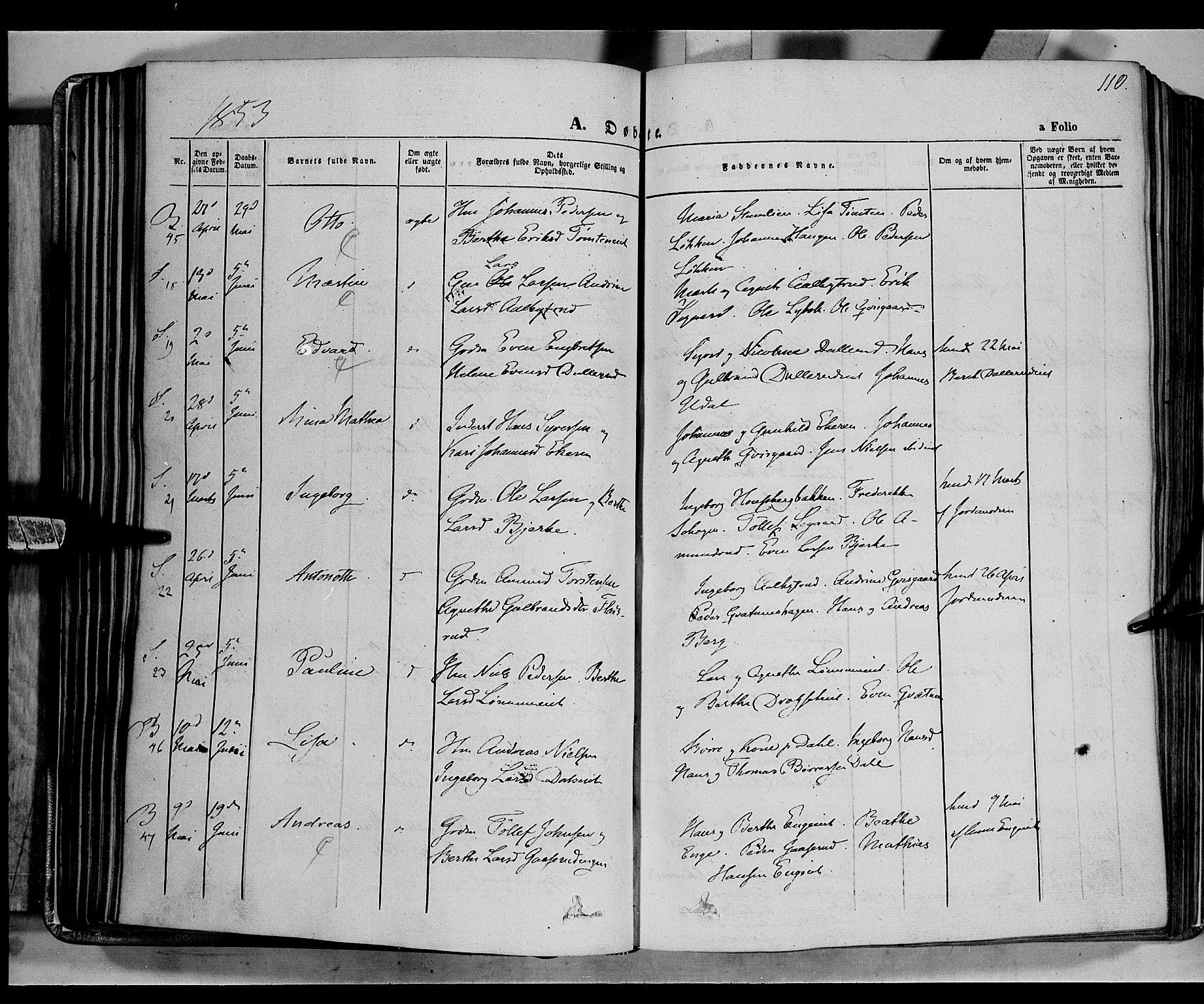 SAH, Biri prestekontor, Ministerialbok nr. 5, 1843-1854, s. 110