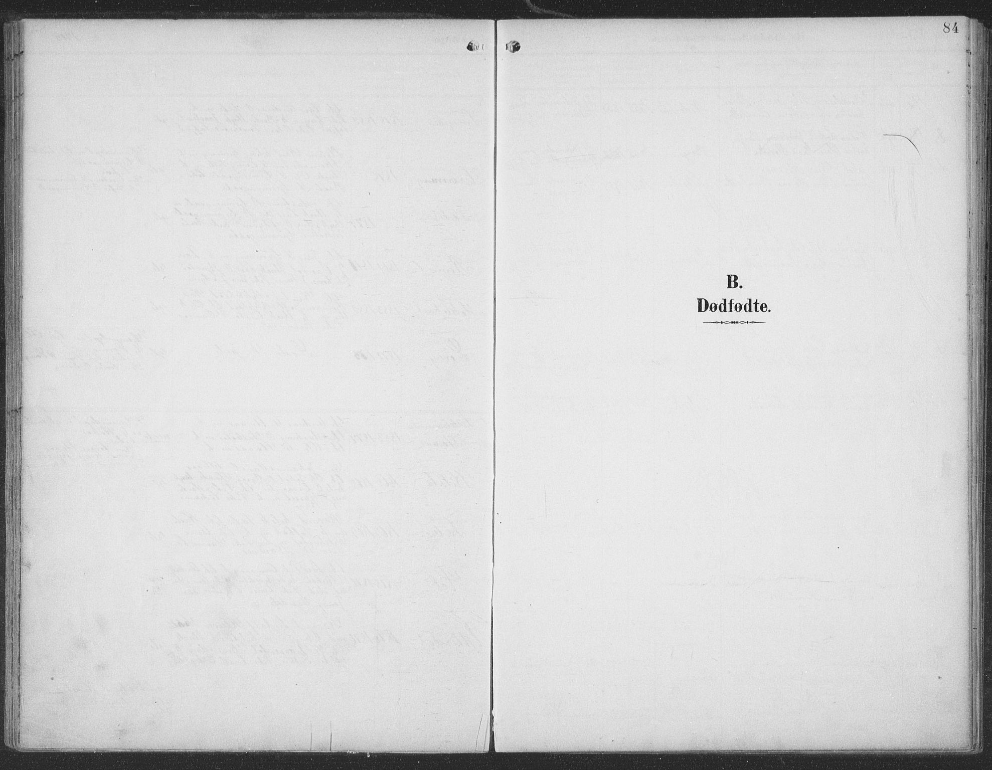 SAT, Ministerialprotokoller, klokkerbøker og fødselsregistre - Møre og Romsdal, 519/L0256: Ministerialbok nr. 519A15, 1895-1912, s. 84