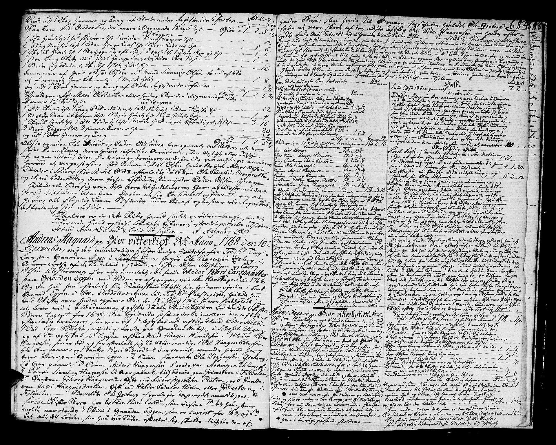 SAH, Solør og Østerdalen sorenskriveri, J/Ja/L0013: Skifteprotokoll, 1764-1768, s. 683b-684a