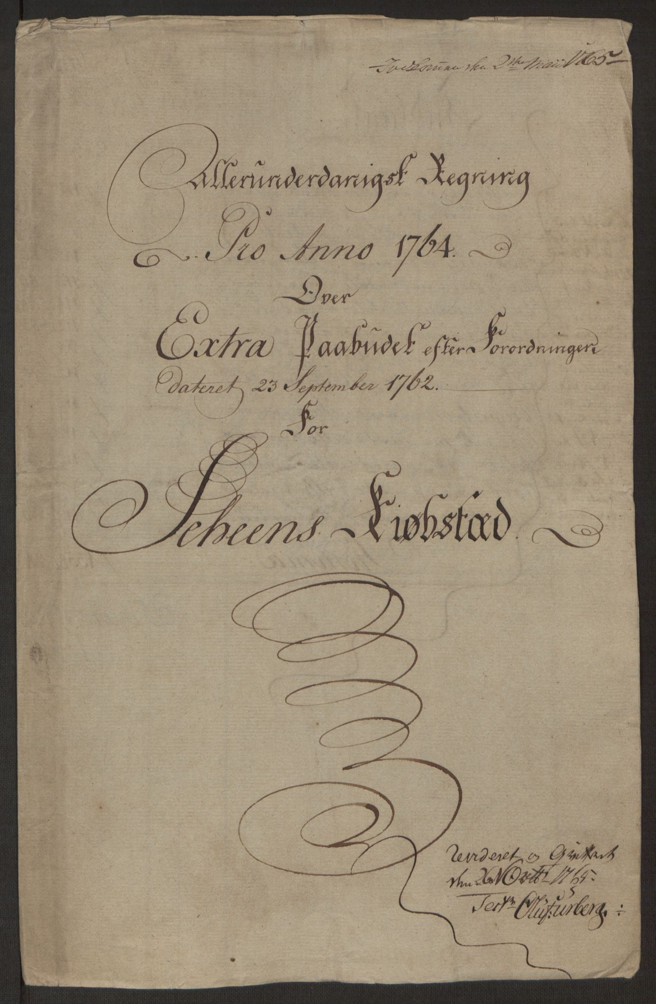 RA, Rentekammeret inntil 1814, Reviderte regnskaper, Byregnskaper, R/Rj/L0198: [J4] Kontribusjonsregnskap, 1762-1768, s. 175