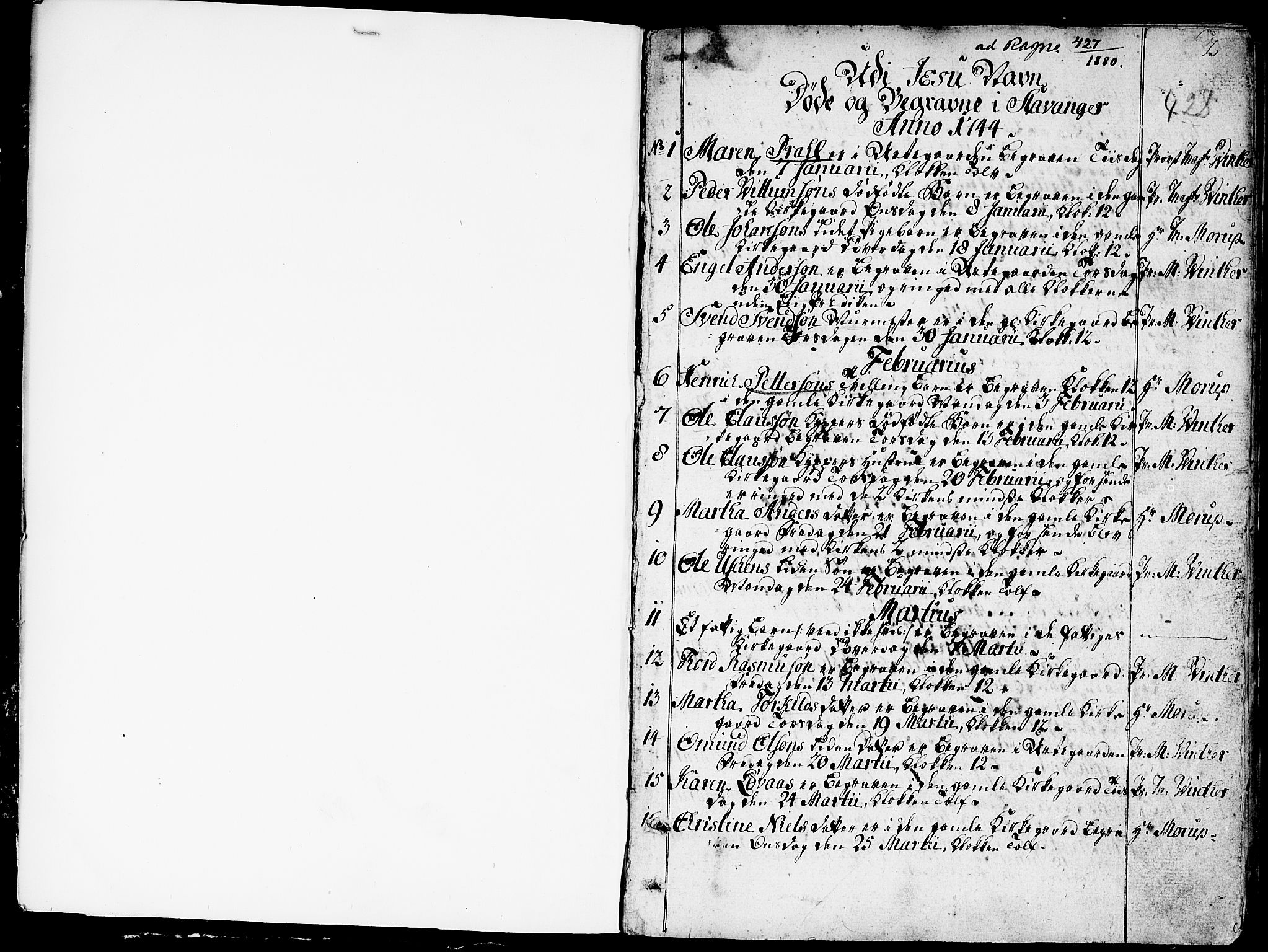 SAST, Domkirken sokneprestkontor, 30/30BA/L0005: Ministerialbok nr. A 5, 1744-1788, s. 2