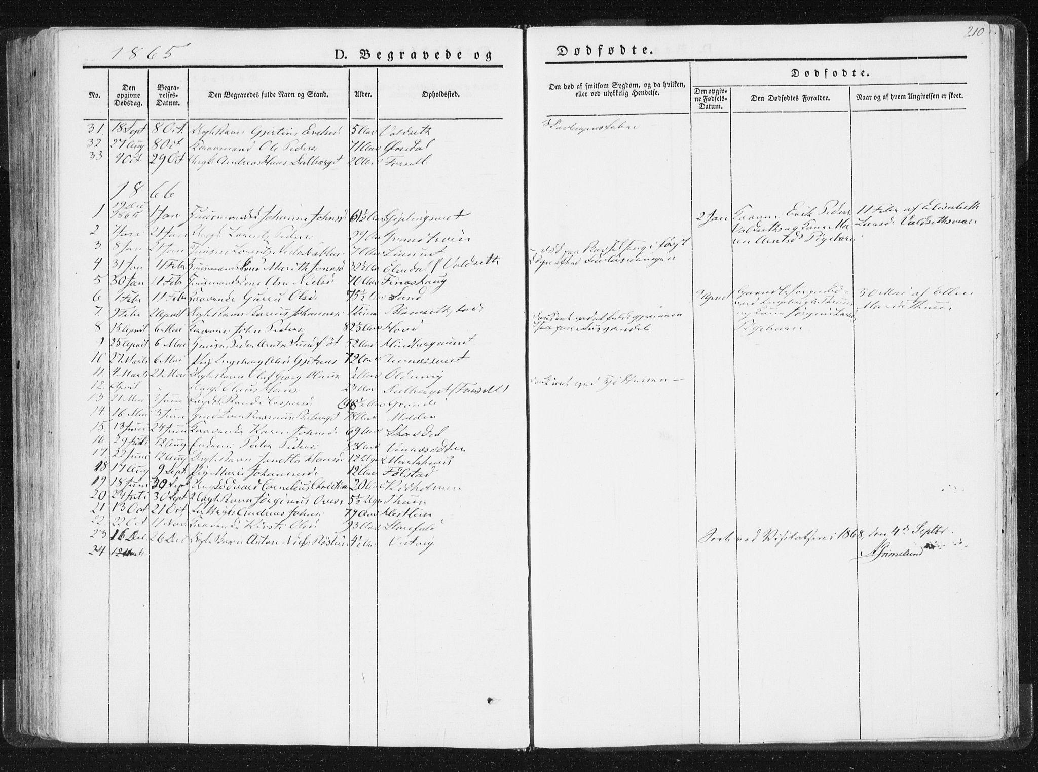 SAT, Ministerialprotokoller, klokkerbøker og fødselsregistre - Nord-Trøndelag, 744/L0418: Ministerialbok nr. 744A02, 1843-1866, s. 210