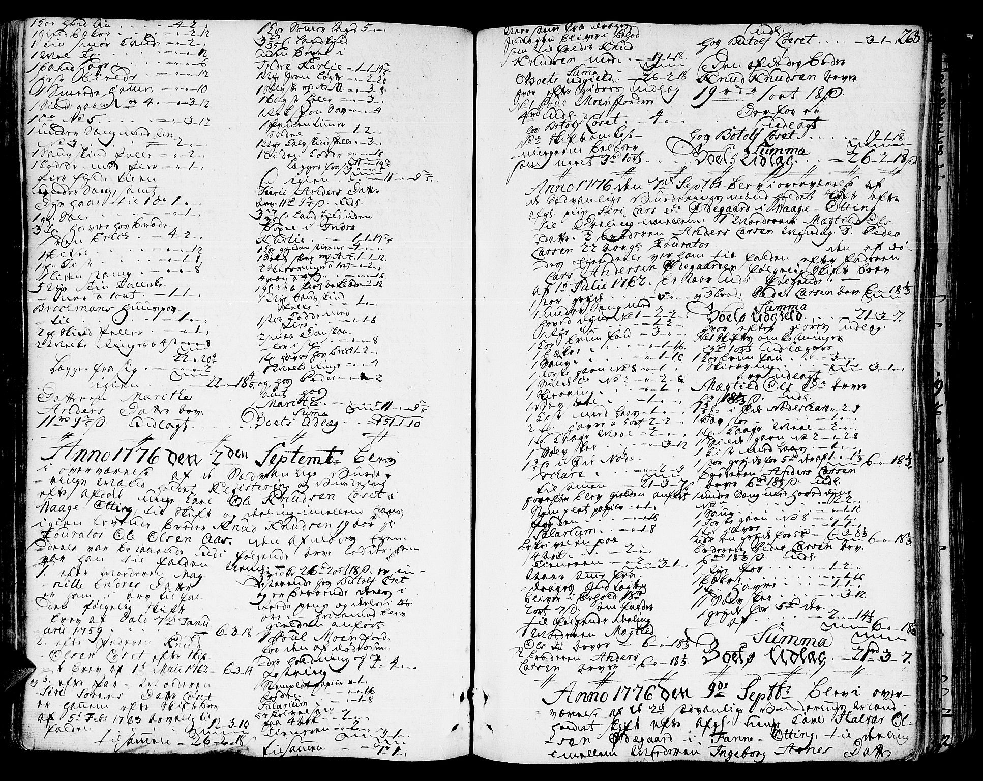SAT, Romsdal sorenskriveri, 3/3A/L0010: Skifteprotokoll, 1774-1782, s. 267b-268a
