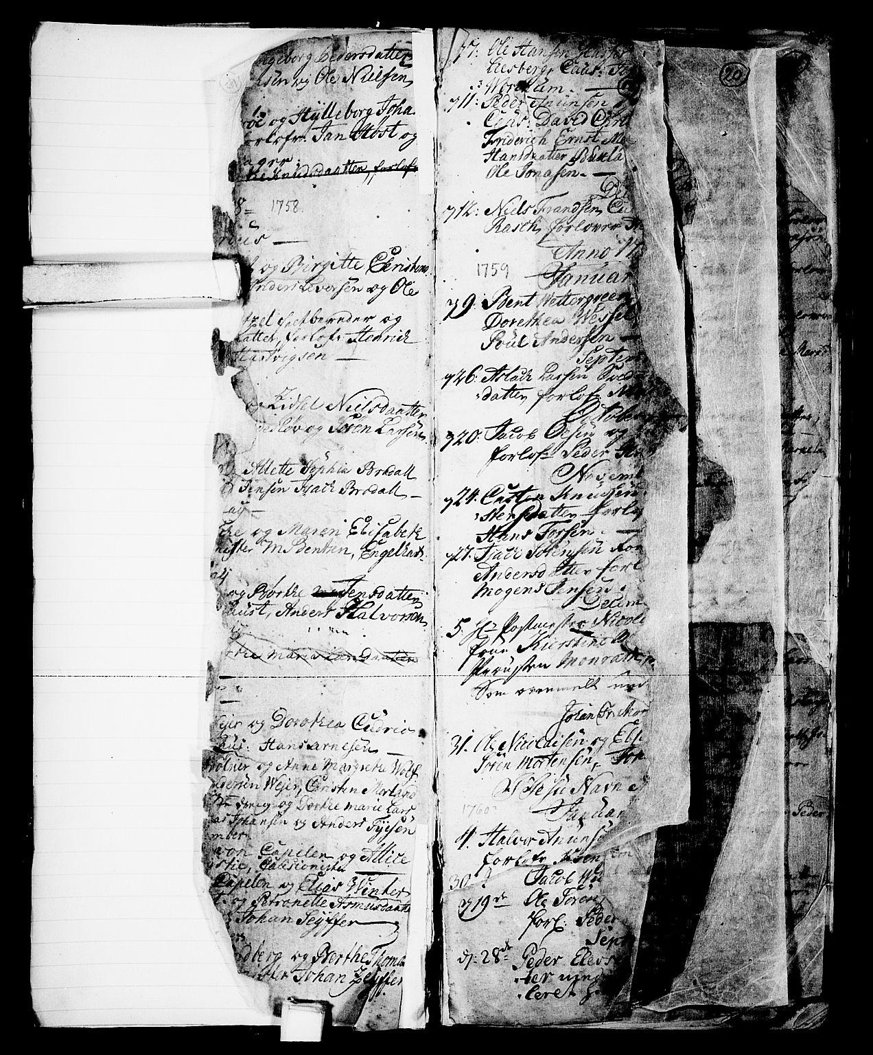 SAKO, Skien kirkebøker, G/Ga/L0001: Klokkerbok nr. 1, 1756-1791, s. 18