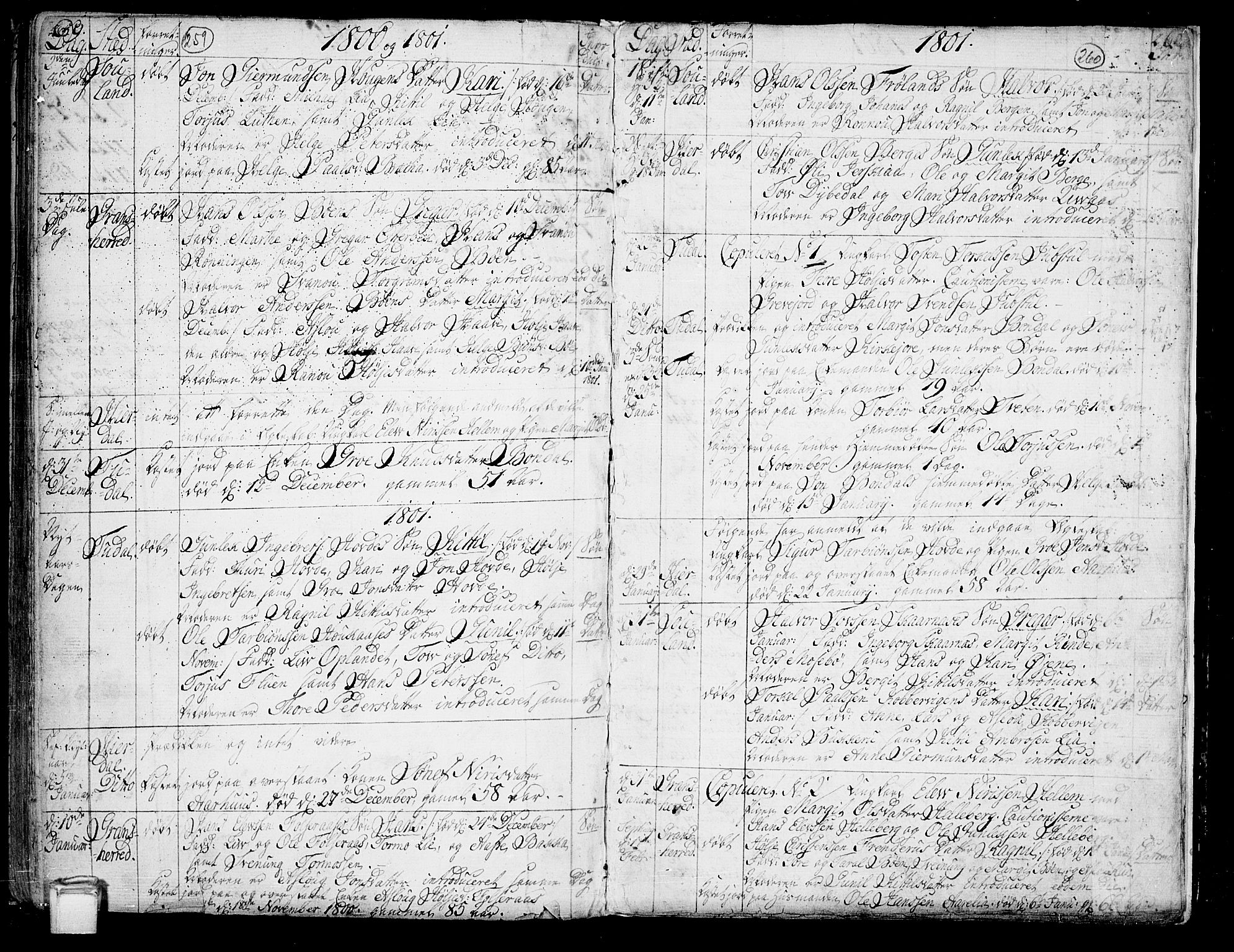 SAKO, Hjartdal kirkebøker, F/Fa/L0005: Ministerialbok nr. I 5, 1776-1801, s. 259-260