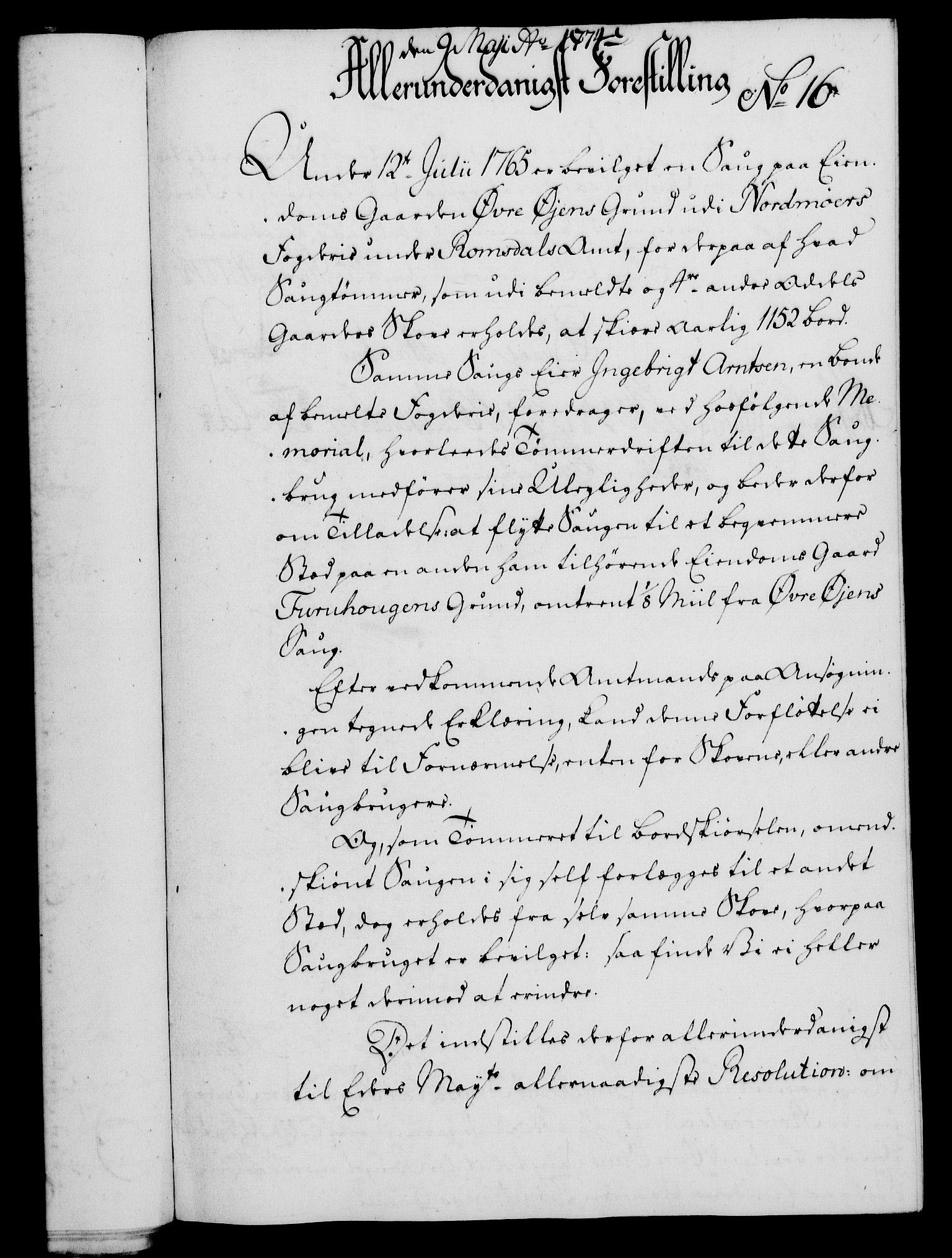 RA, Rentekammeret, Kammerkanselliet, G/Gf/Gfa/L0056: Norsk relasjons- og resolusjonsprotokoll (merket RK 52.56), 1774, s. 81