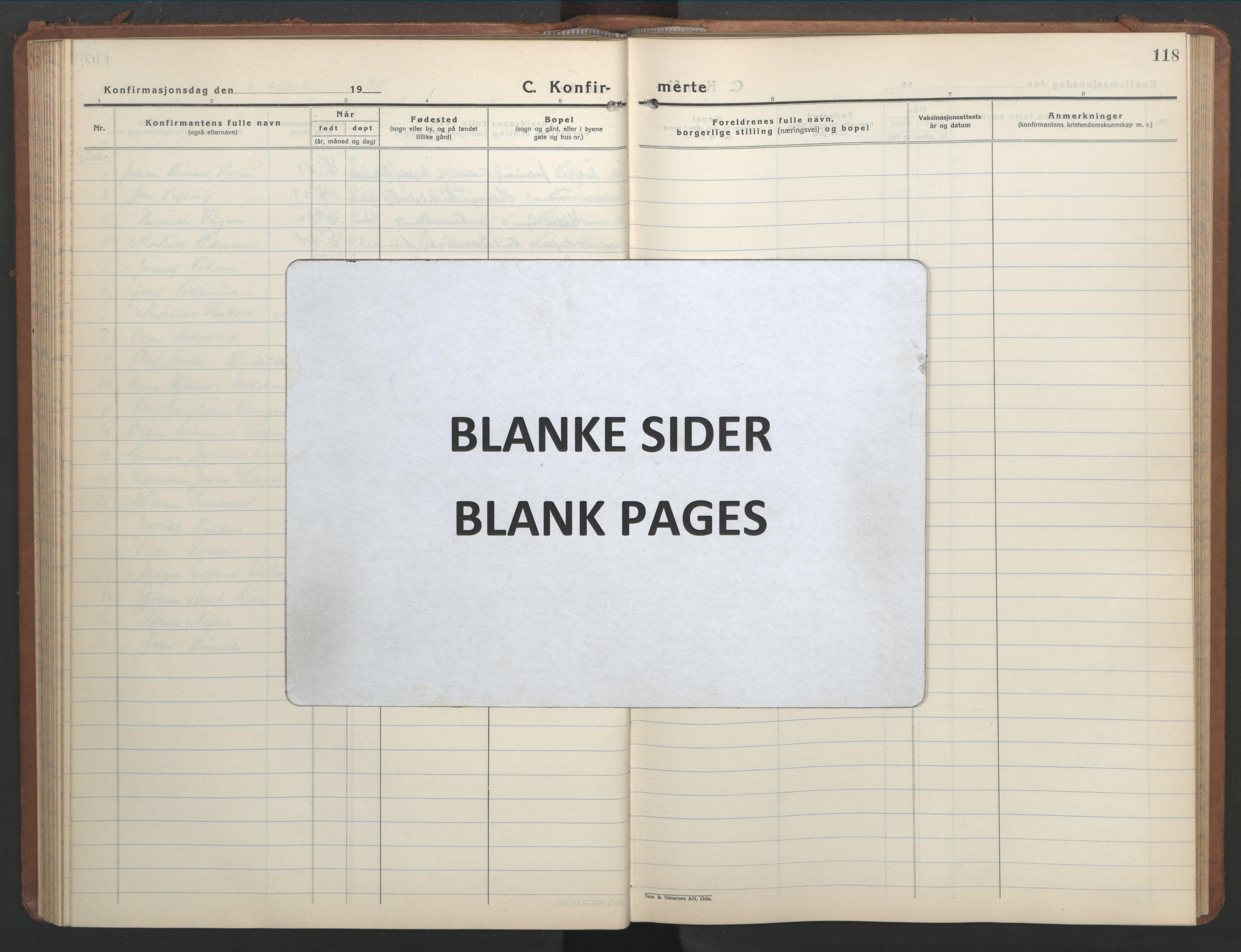 SAT, Ministerialprotokoller, klokkerbøker og fødselsregistre - Nord-Trøndelag, 709/L0089: Klokkerbok nr. 709C03, 1935-1948, s. 118