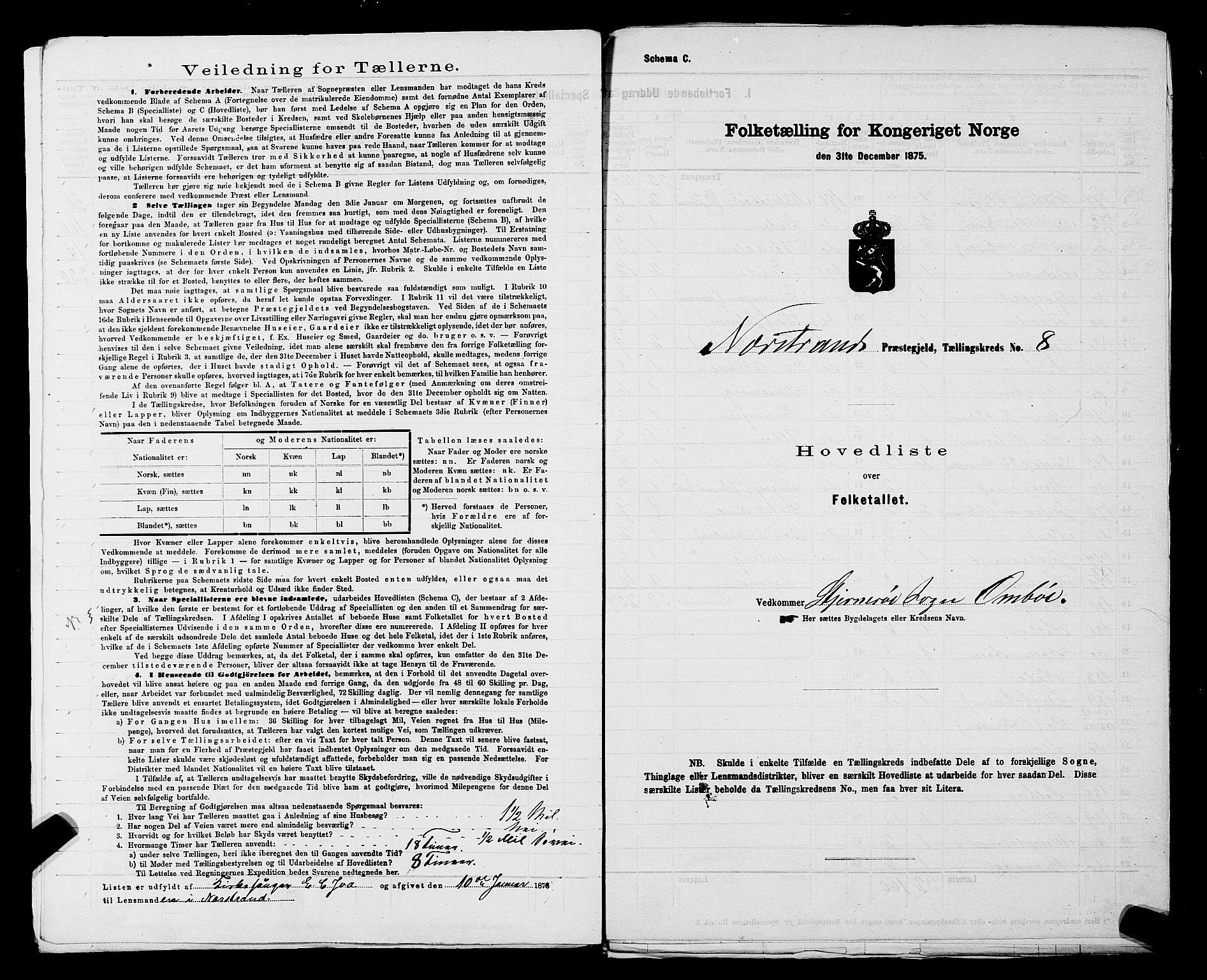 SAST, Folketelling 1875 for 1139P Nedstrand prestegjeld, 1875, s. 34