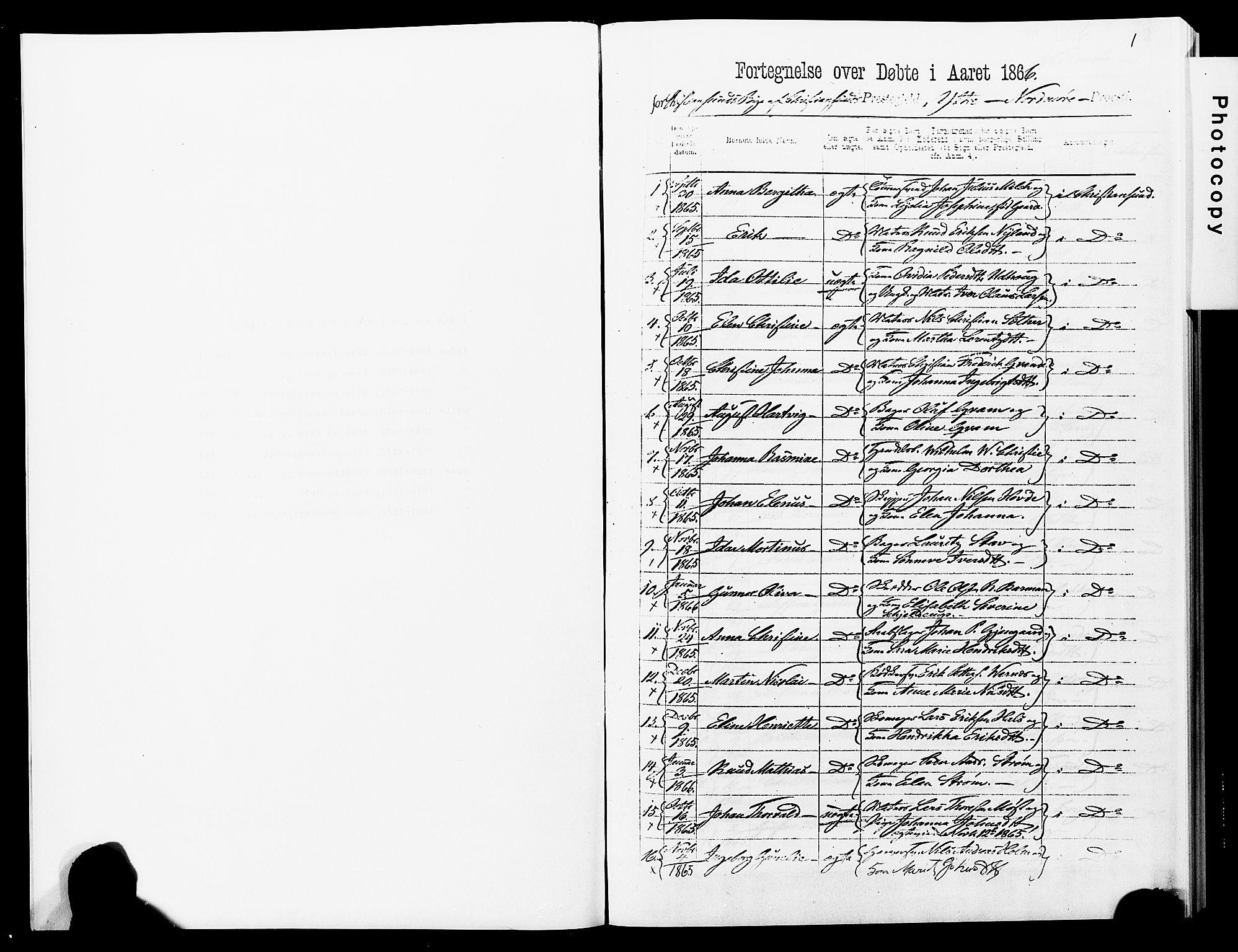 SAT, Ministerialprotokoller, klokkerbøker og fødselsregistre - Møre og Romsdal, 572/L0857: Ministerialbok nr. 572D01, 1866-1872, s. 1