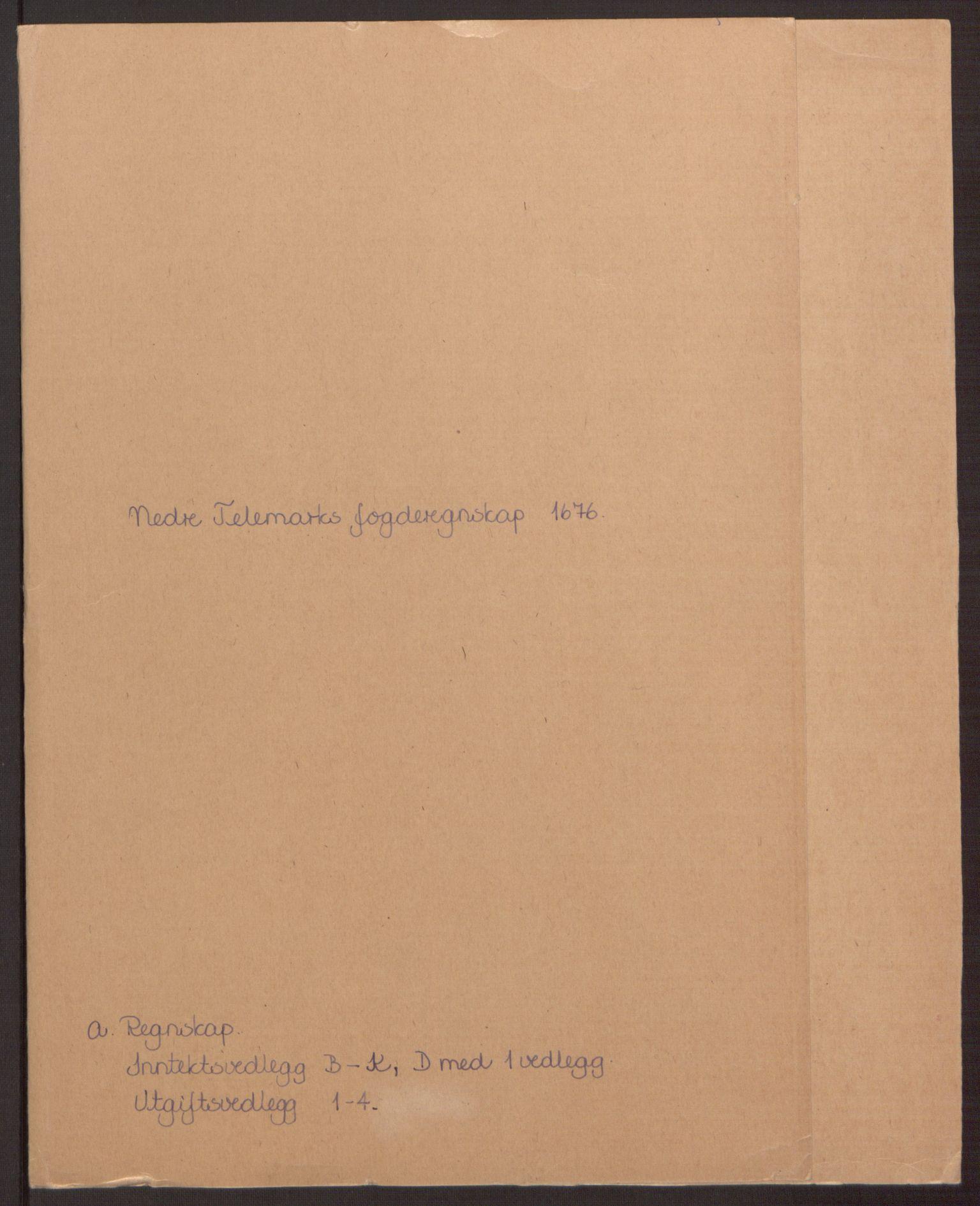 RA, Rentekammeret inntil 1814, Reviderte regnskaper, Fogderegnskap, R35/L2066: Fogderegnskap Øvre og Nedre Telemark, 1676, s. 2