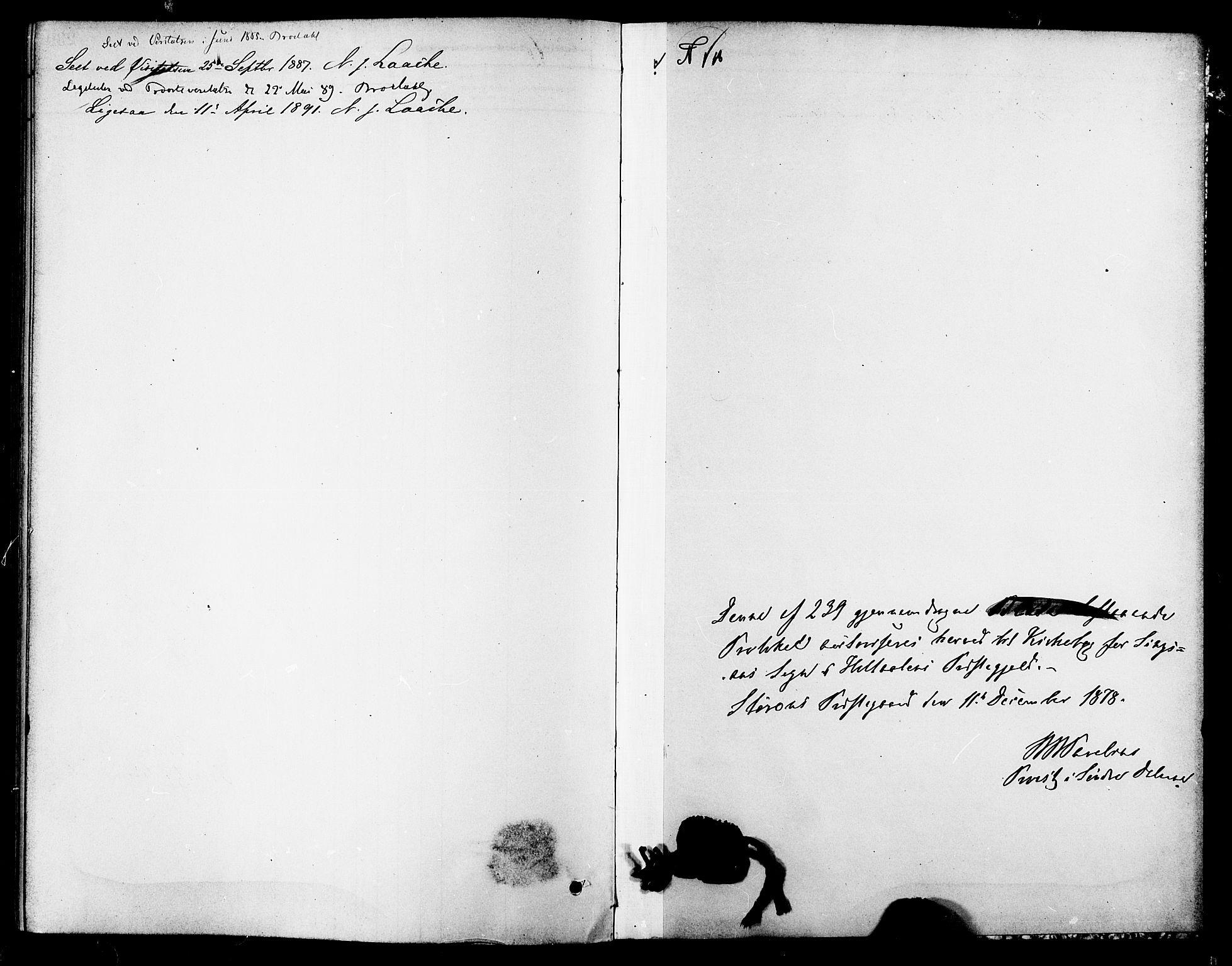 SAT, Ministerialprotokoller, klokkerbøker og fødselsregistre - Sør-Trøndelag, 688/L1024: Ministerialbok nr. 688A01, 1879-1890