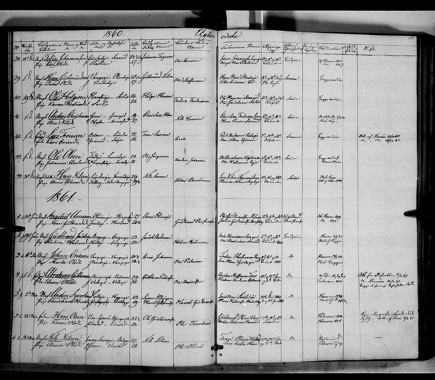 SAH, Jevnaker prestekontor, Ministerialbok nr. 7, 1858-1876, s. 173