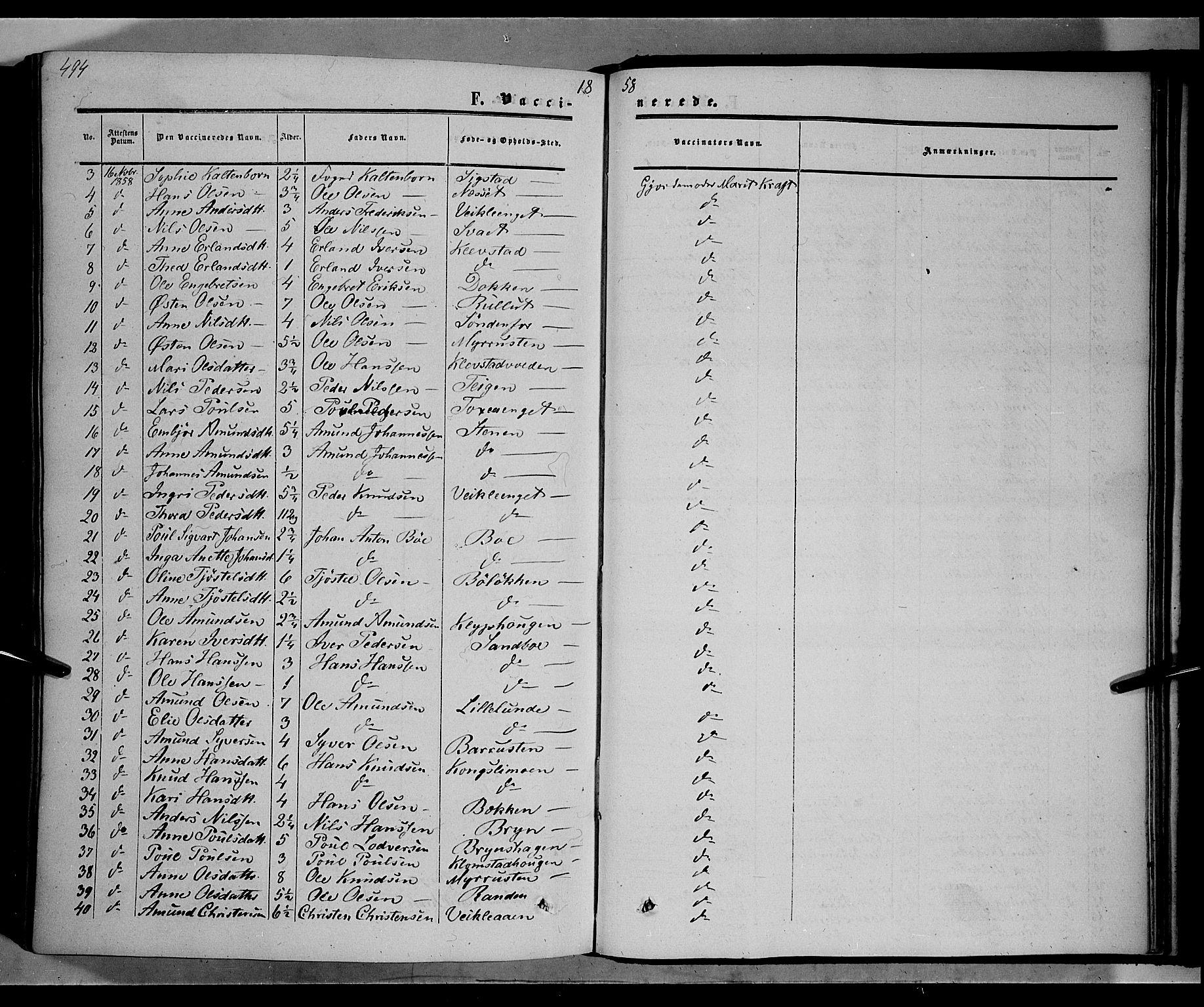 SAH, Nord-Fron prestekontor, Ministerialbok nr. 1, 1851-1864, s. 494