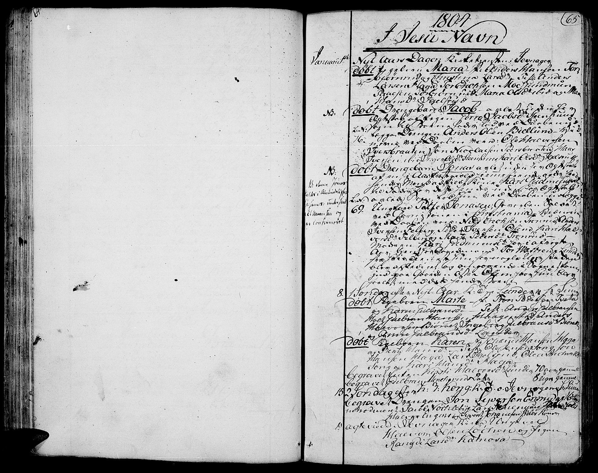SAH, Jevnaker prestekontor, Ministerialbok nr. 4, 1800-1861, s. 64-65
