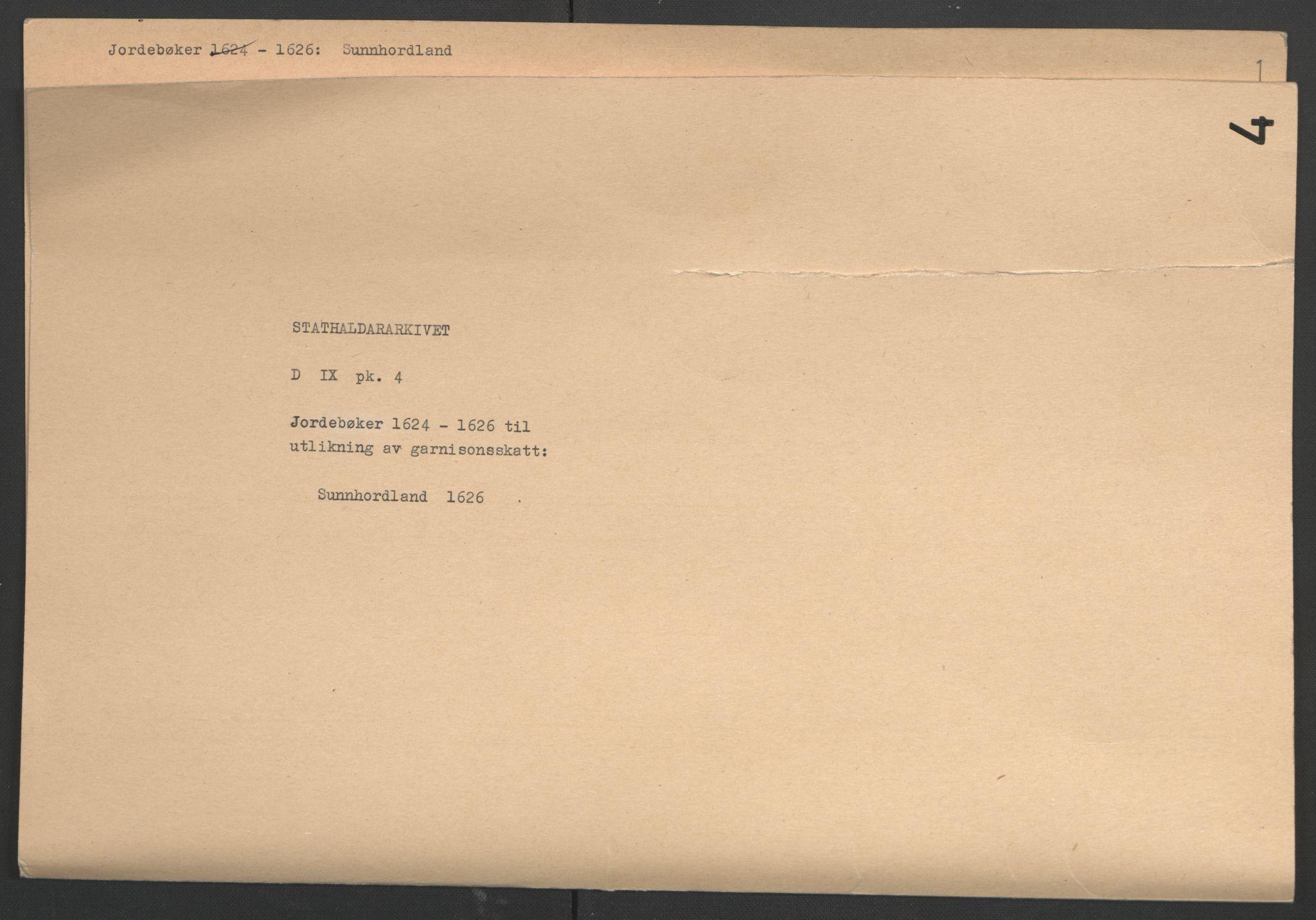 RA, Stattholderembetet 1572-1771, Ek/L0004: Jordebøker til utlikning av garnisonsskatt 1624-1626:, 1626, s. 2