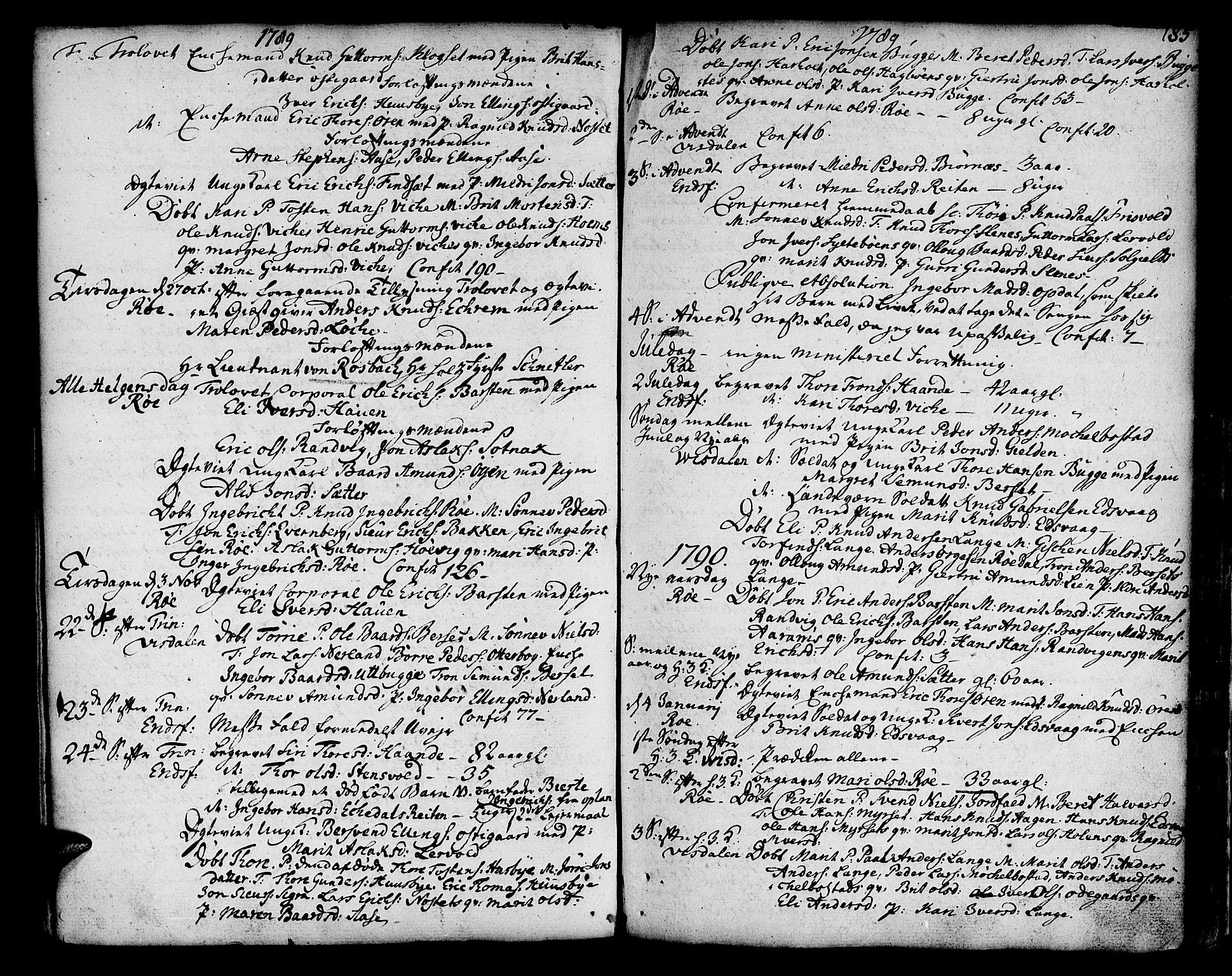 SAT, Ministerialprotokoller, klokkerbøker og fødselsregistre - Møre og Romsdal, 551/L0621: Ministerialbok nr. 551A01, 1757-1803, s. 185