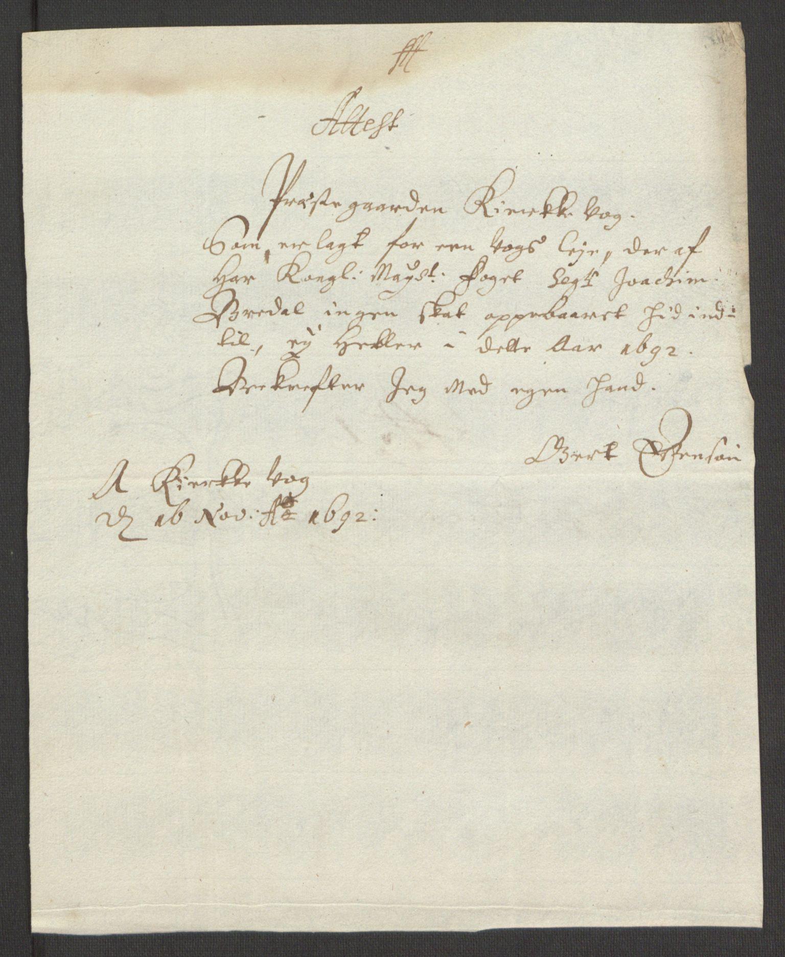 RA, Rentekammeret inntil 1814, Reviderte regnskaper, Fogderegnskap, R67/L4675: Fogderegnskap Vesterålen, Andenes og Lofoten, 1691-1693, s. 206