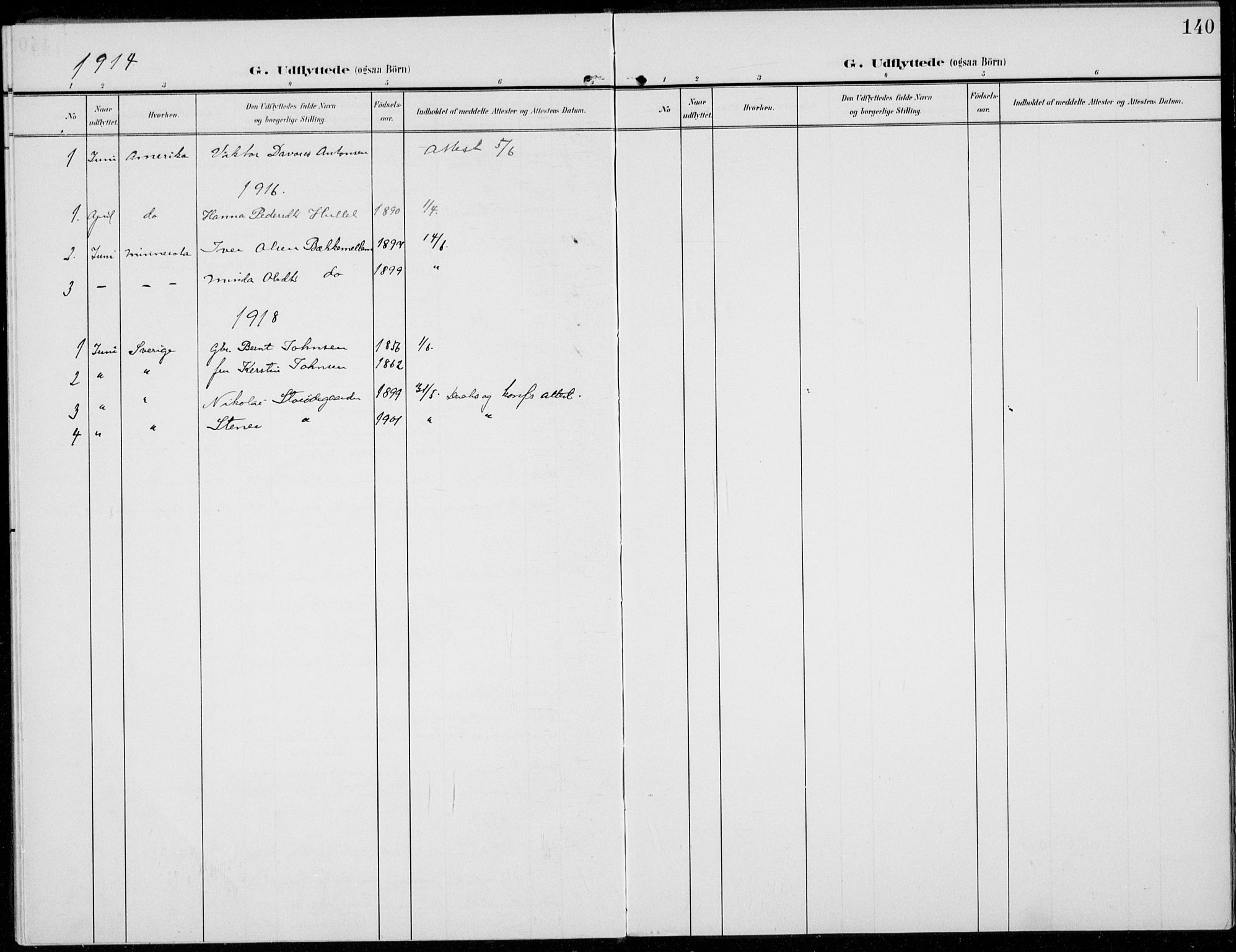 SAH, Sel prestekontor, Ministerialbok nr. 1, 1905-1922, s. 140