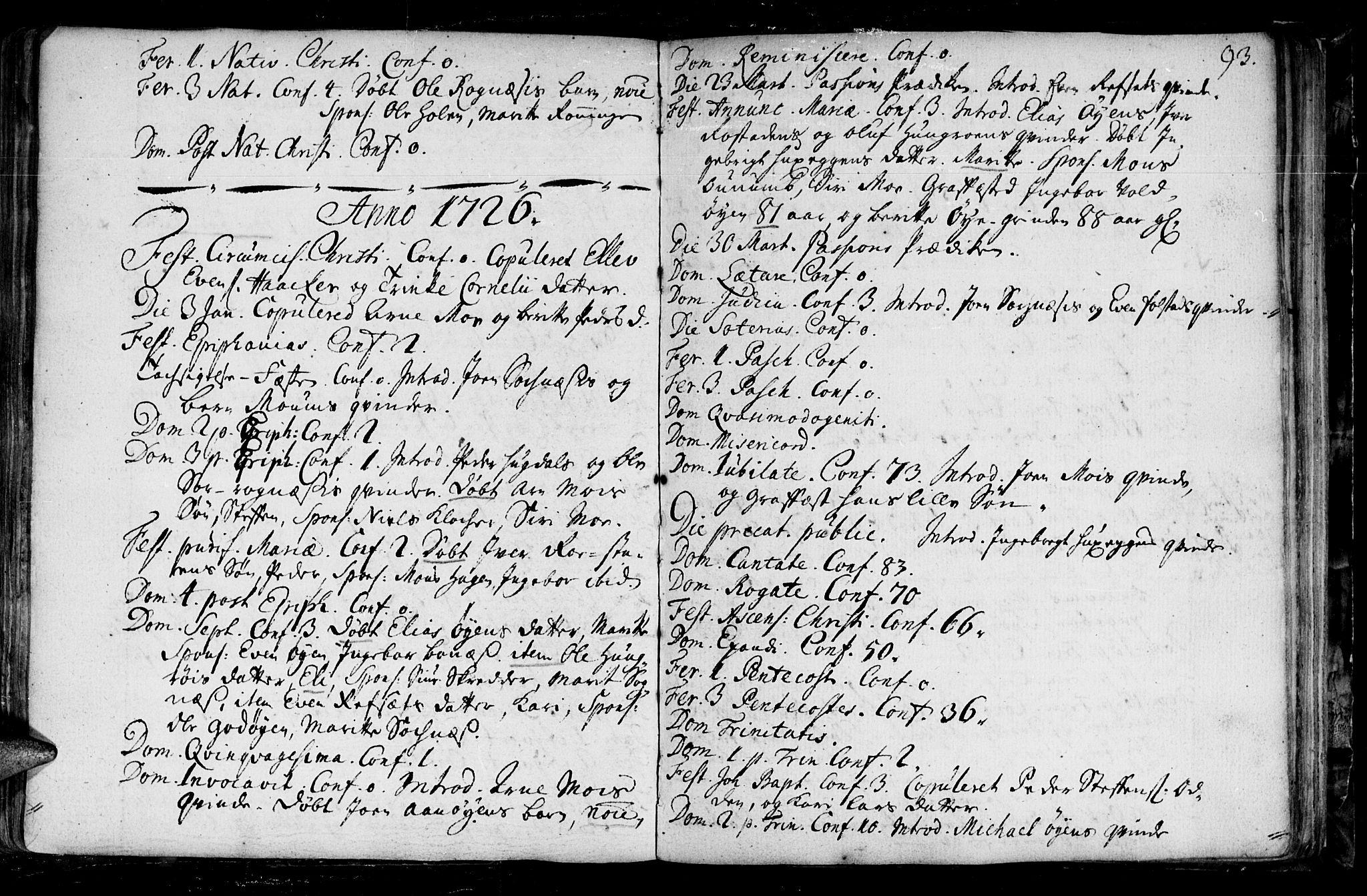 SAT, Ministerialprotokoller, klokkerbøker og fødselsregistre - Sør-Trøndelag, 687/L0990: Ministerialbok nr. 687A01, 1690-1746, s. 93