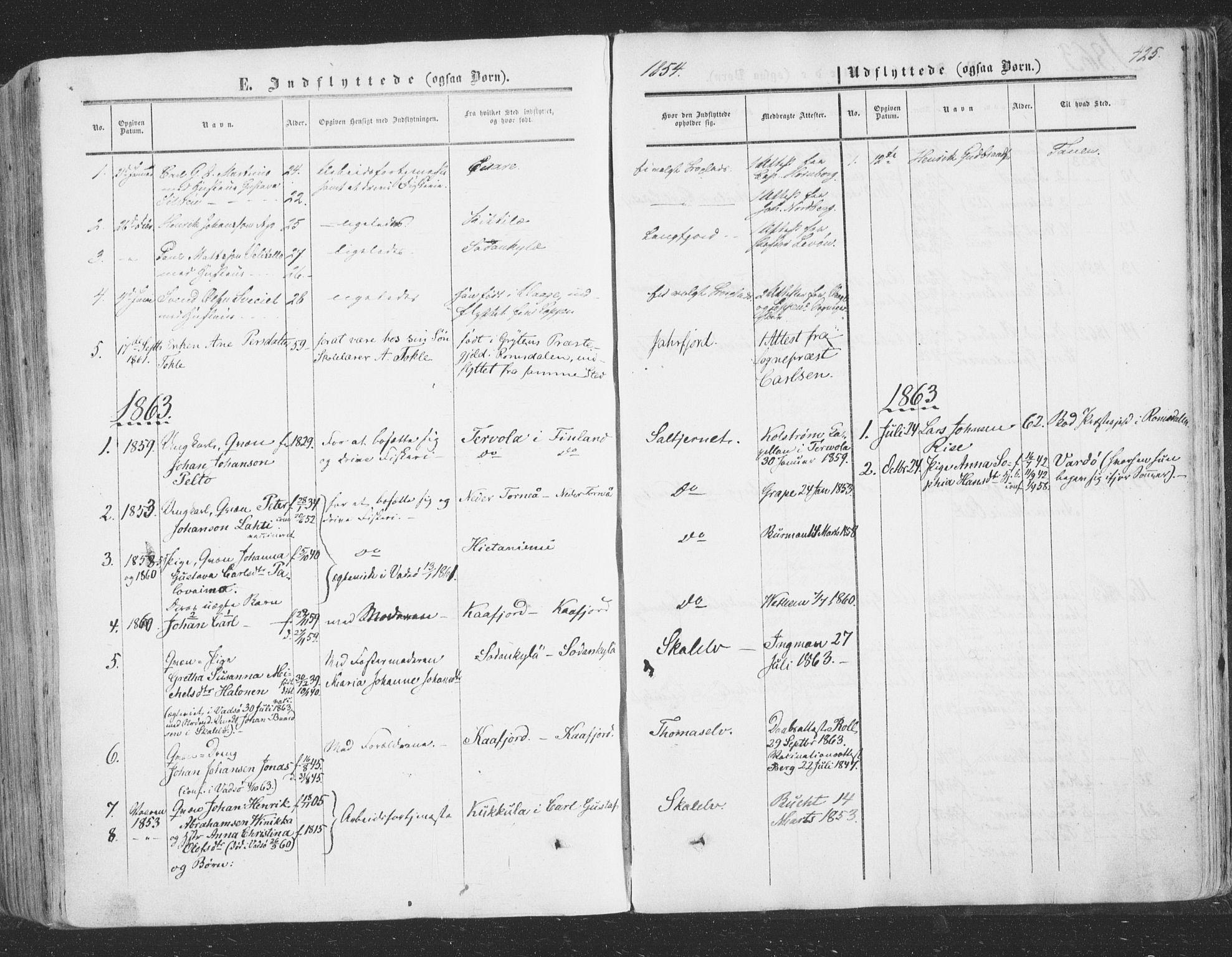 SATØ, Vadsø soknepreskontor, H/Ha/L0004kirke: Ministerialbok nr. 4, 1854-1880, s. 425