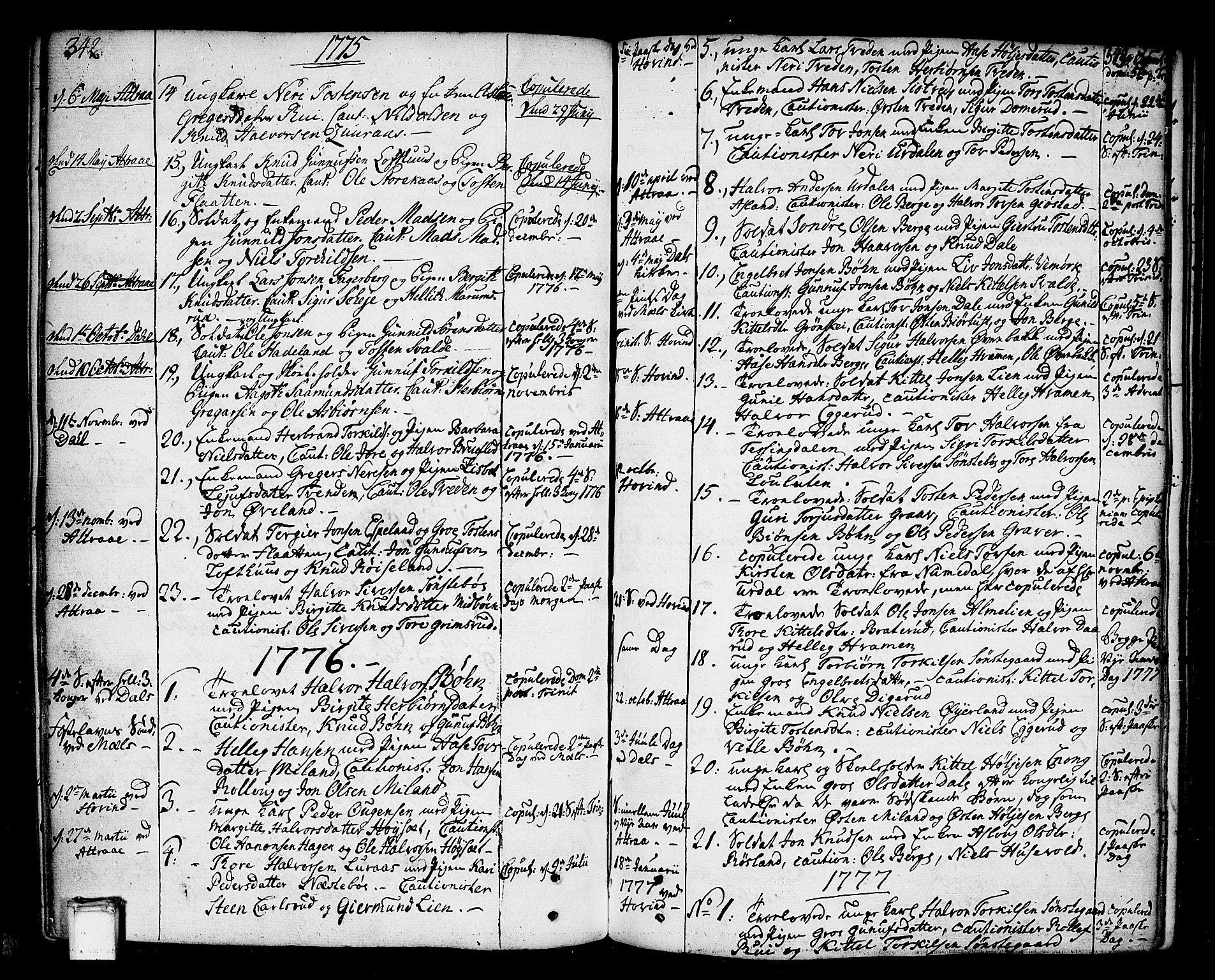 SAKO, Tinn kirkebøker, F/Fa/L0002: Ministerialbok nr. I 2, 1757-1810, s. 342-343