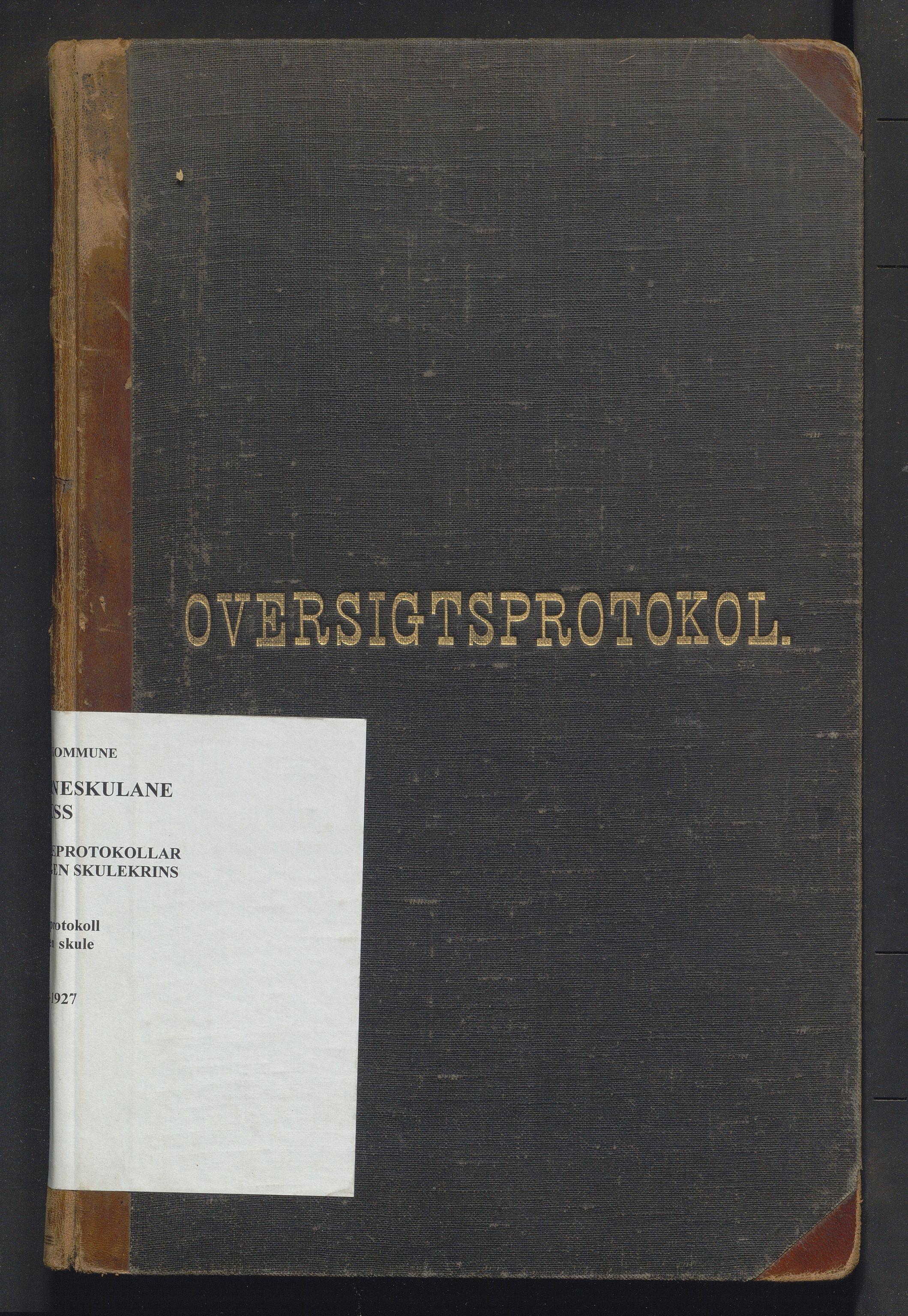 IKAH, Voss kommune. Barneskulane, F/Fc/L0005: Skuleprotokoll for Vangen skule, 1892-1927