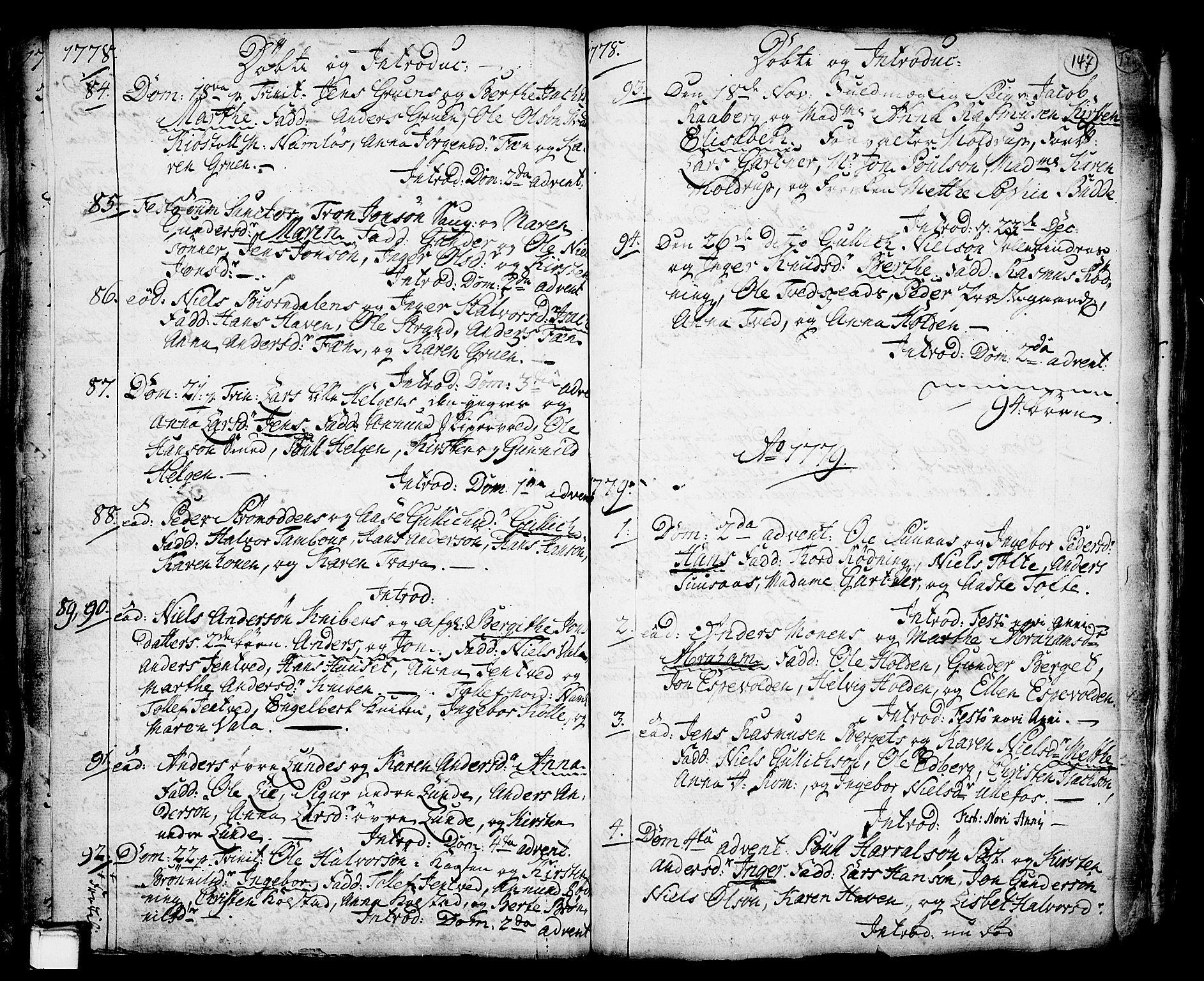 SAKO, Holla kirkebøker, F/Fa/L0001: Ministerialbok nr. 1, 1717-1779, s. 147