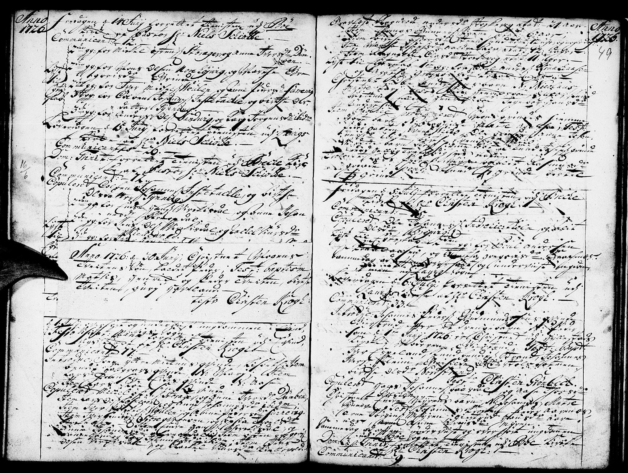 SAB, Gulen Sokneprestembete, Ministerialbok nr. A 8, 1723-1728, s. 49