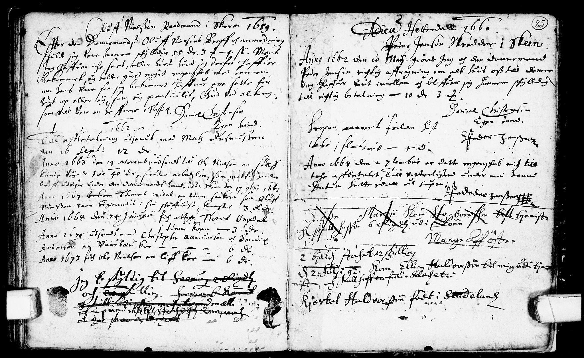 SAKO, Heddal kirkebøker, F/Fa/L0001: Ministerialbok nr. I 1, 1648-1699, s. 85