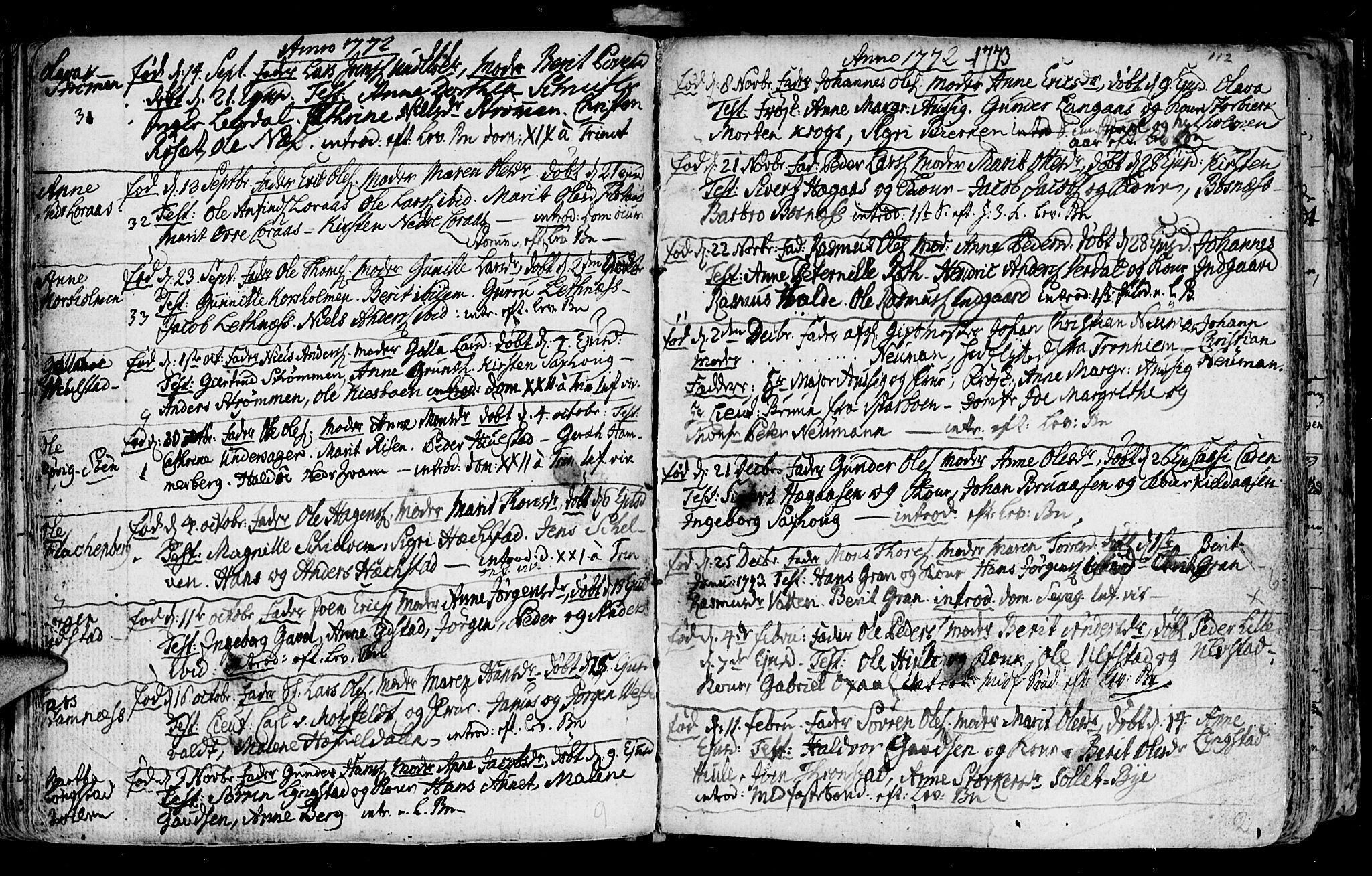 SAT, Ministerialprotokoller, klokkerbøker og fødselsregistre - Nord-Trøndelag, 730/L0273: Ministerialbok nr. 730A02, 1762-1802, s. 112