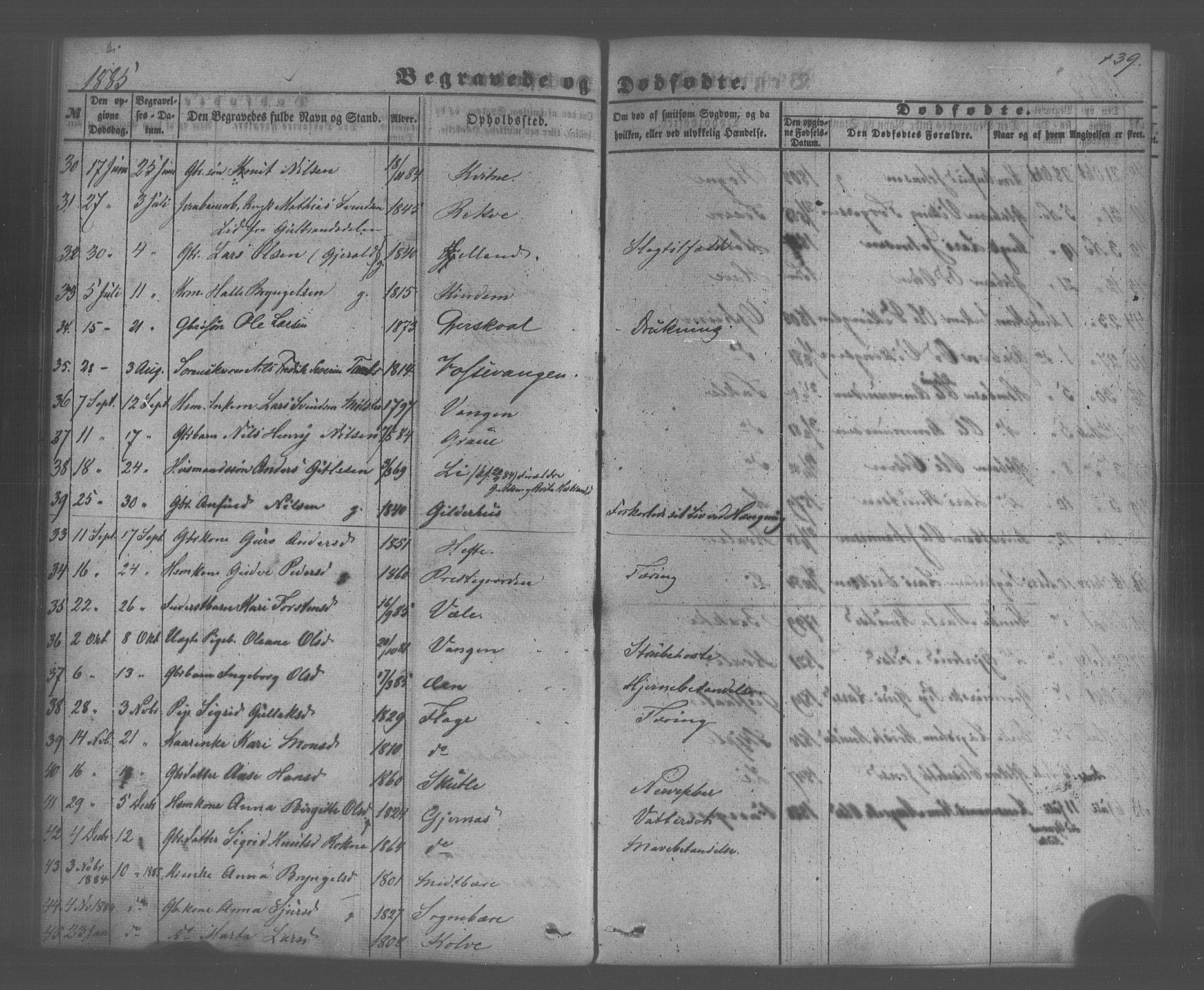 SAB, Voss Sokneprestembete, H/Haa: Ministerialbok nr. A 20, 1855-1886, s. 139