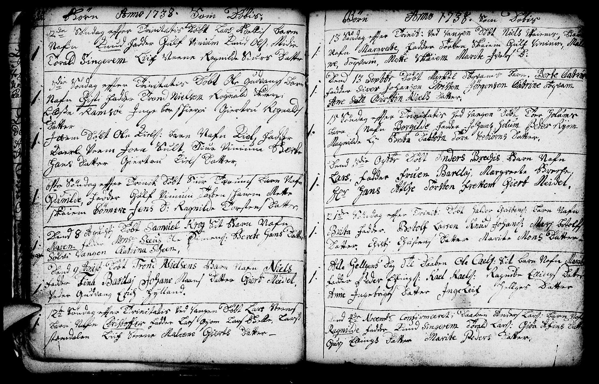 SAB, Aurland Sokneprestembete*, Ministerialbok nr. A 3, 1735-1761, s. 20