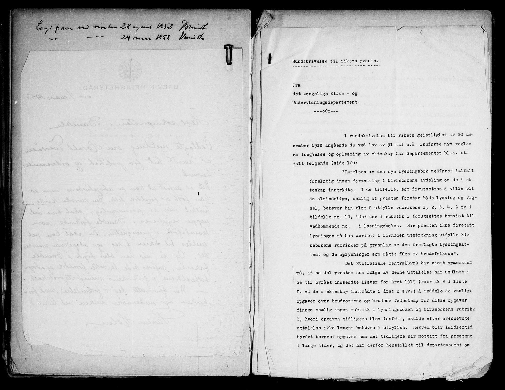 SAKO, Bamble kirkebøker, H/Ha/L0002: Lysningsprotokoll nr. 2, 1948-1973