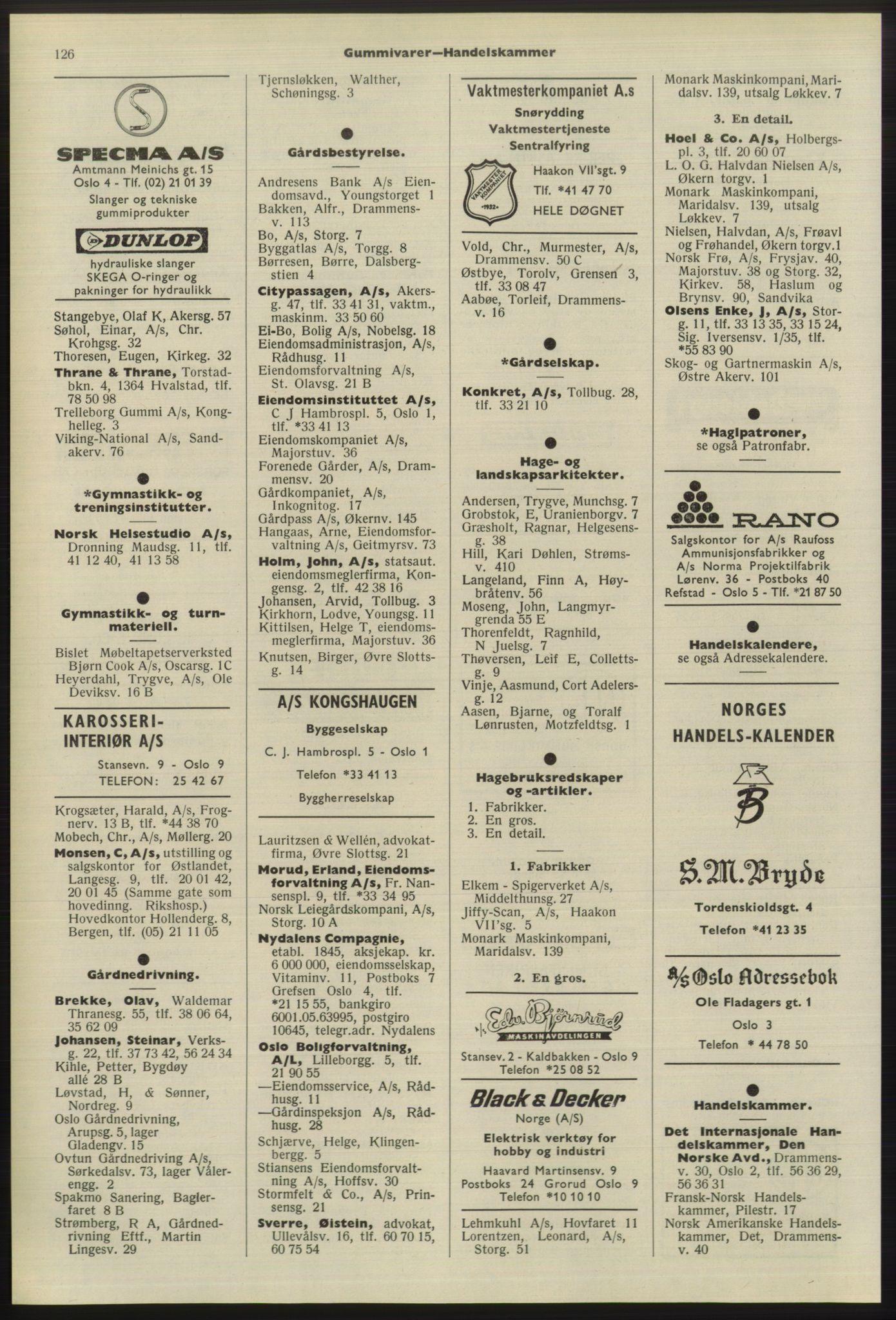 PUBL, Kristiania/Oslo adressebok, 1975-1976, s. 126