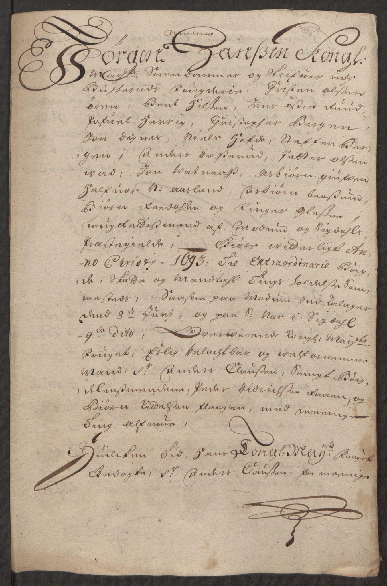 RA, Rentekammeret inntil 1814, Reviderte regnskaper, Fogderegnskap, R25/L1682: Fogderegnskap Buskerud, 1693, s. 199