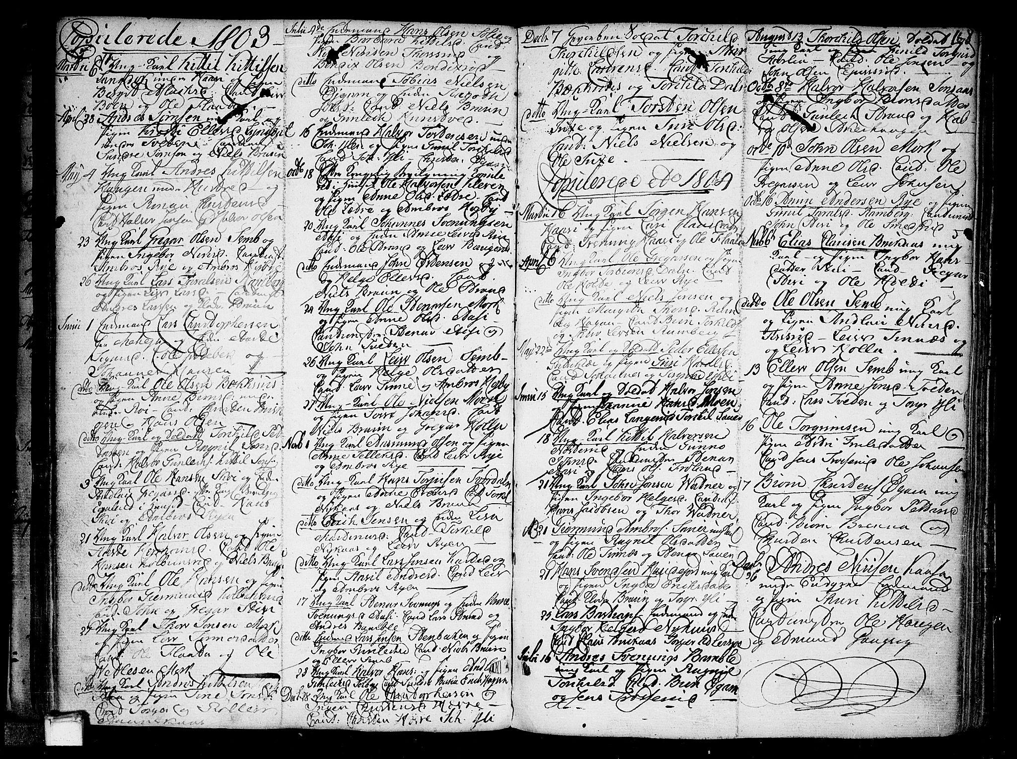 SAKO, Heddal kirkebøker, F/Fa/L0004: Ministerialbok nr. I 4, 1784-1814, s. 168