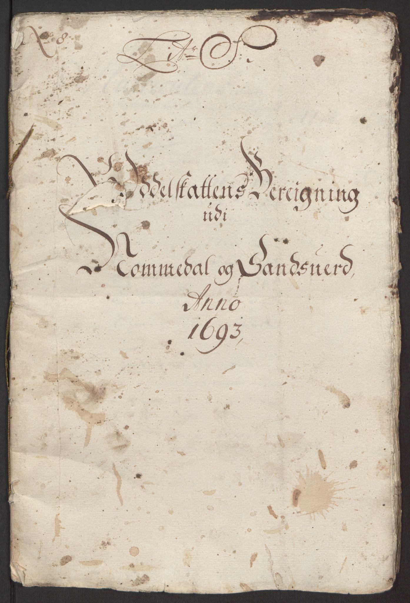 RA, Rentekammeret inntil 1814, Reviderte regnskaper, Fogderegnskap, R24/L1575: Fogderegnskap Numedal og Sandsvær, 1692-1695, s. 149