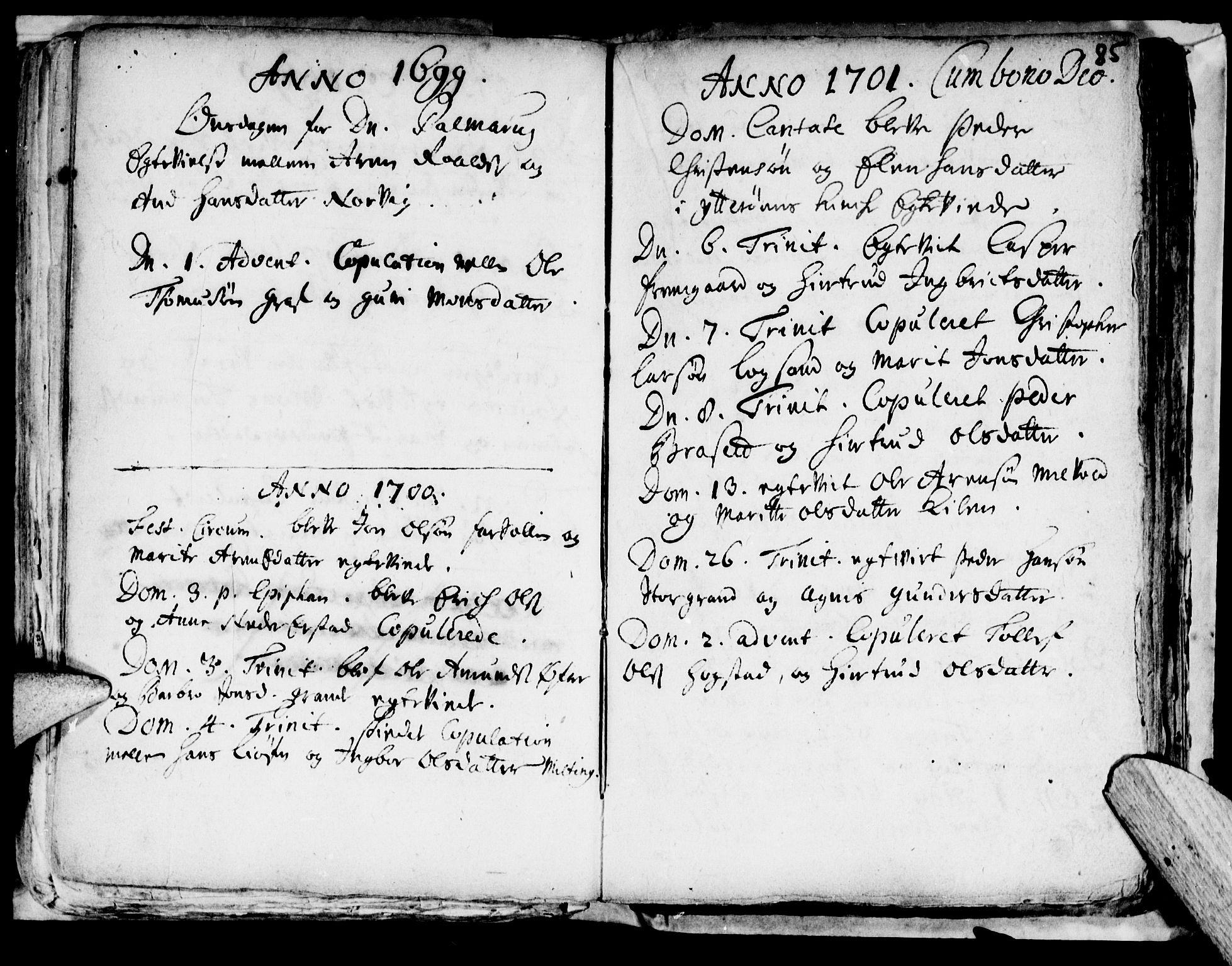 SAT, Ministerialprotokoller, klokkerbøker og fødselsregistre - Nord-Trøndelag, 722/L0214: Ministerialbok nr. 722A01, 1692-1718, s. 85b