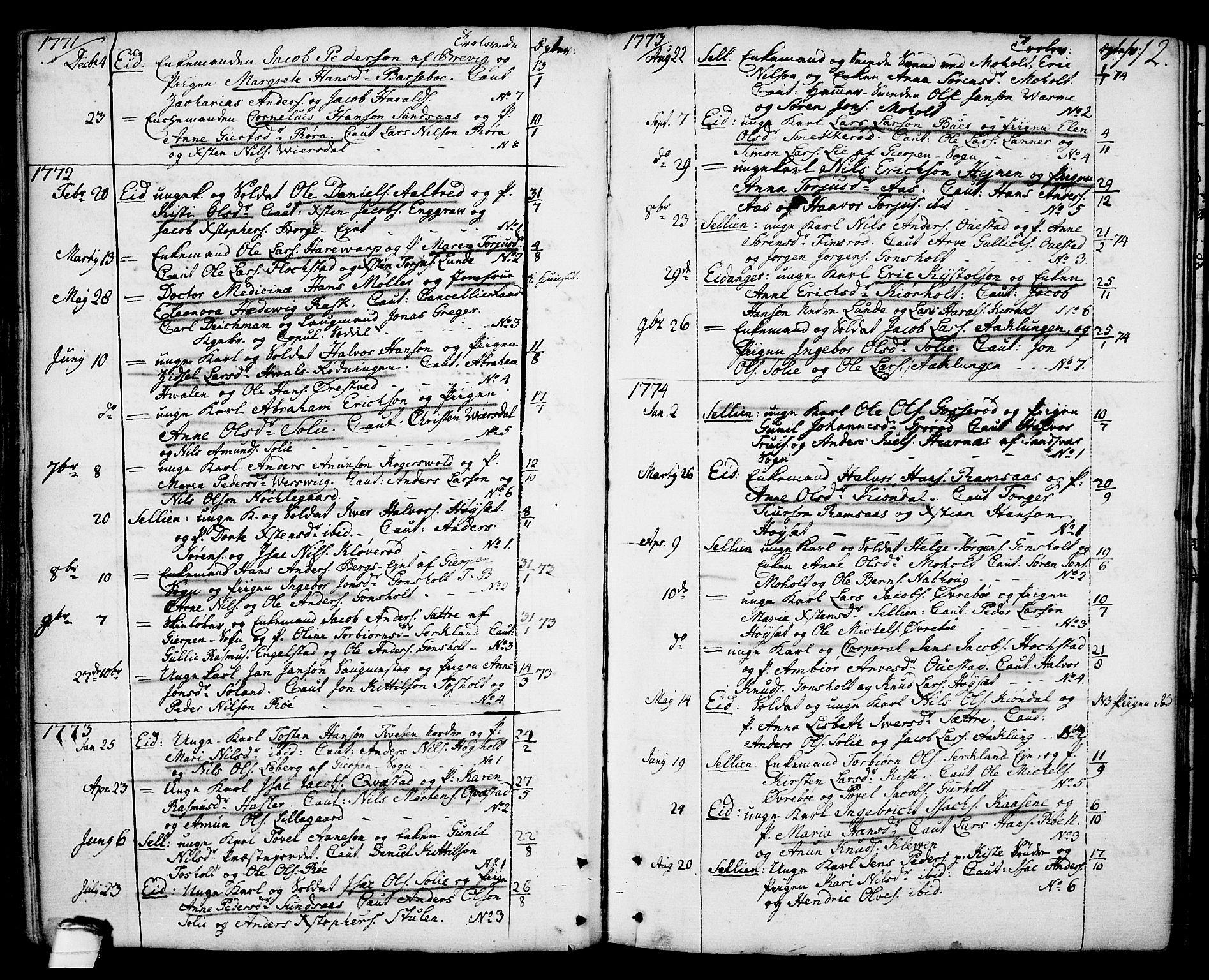SAKO, Eidanger kirkebøker, F/Fa/L0006: Ministerialbok nr. 6, 1764-1814, s. 112
