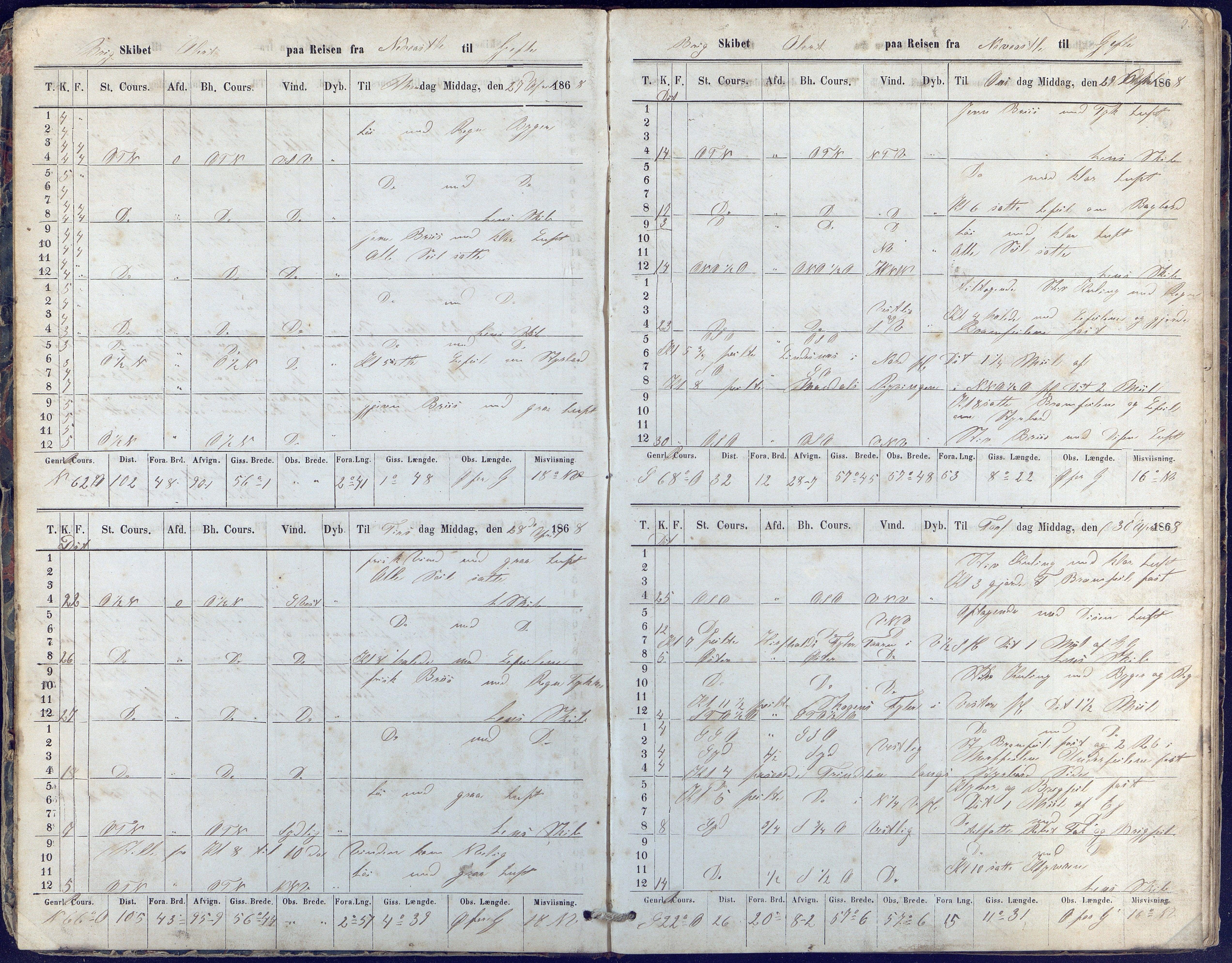 AAKS, Fartøysarkivet, F/L0015: Alert (brigg), 1868-1874, s. 5