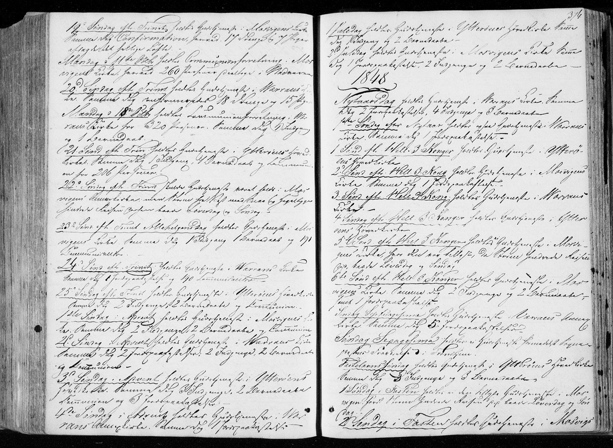 SAT, Ministerialprotokoller, klokkerbøker og fødselsregistre - Nord-Trøndelag, 722/L0218: Ministerialbok nr. 722A05, 1843-1868, s. 374