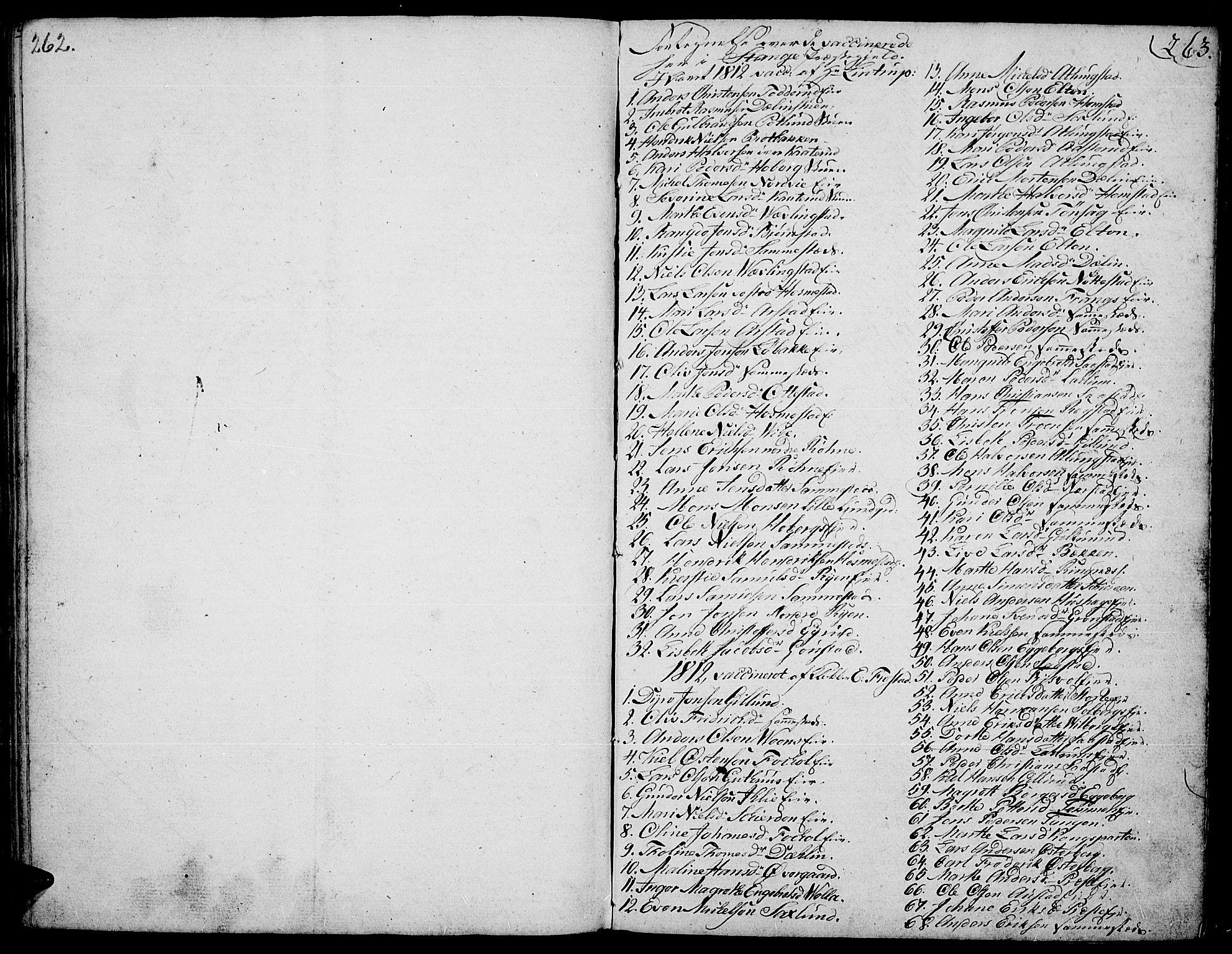 SAH, Stange prestekontor, K/L0007: Ministerialbok nr. 7, 1788-1813, s. 262-263