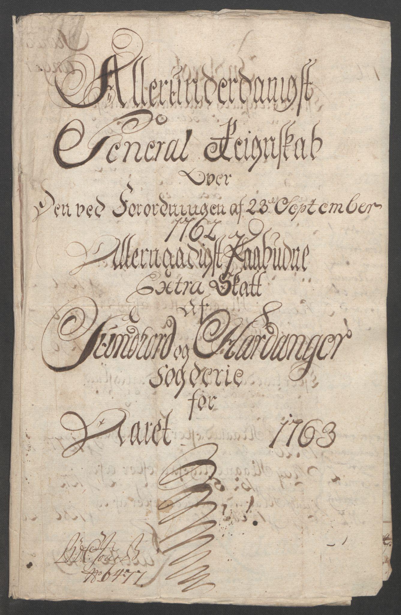 RA, Rentekammeret inntil 1814, Reviderte regnskaper, Fogderegnskap, R48/L3136: Ekstraskatten Sunnhordland og Hardanger, 1762-1772, s. 15